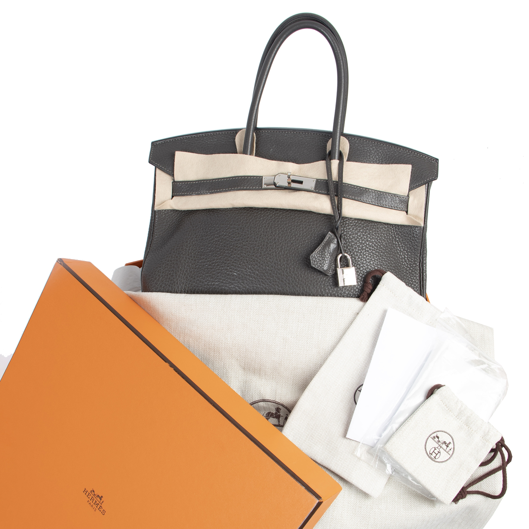 Hermès Birkin 35 Graphite Taurillon Clemence PHW for the best price available online