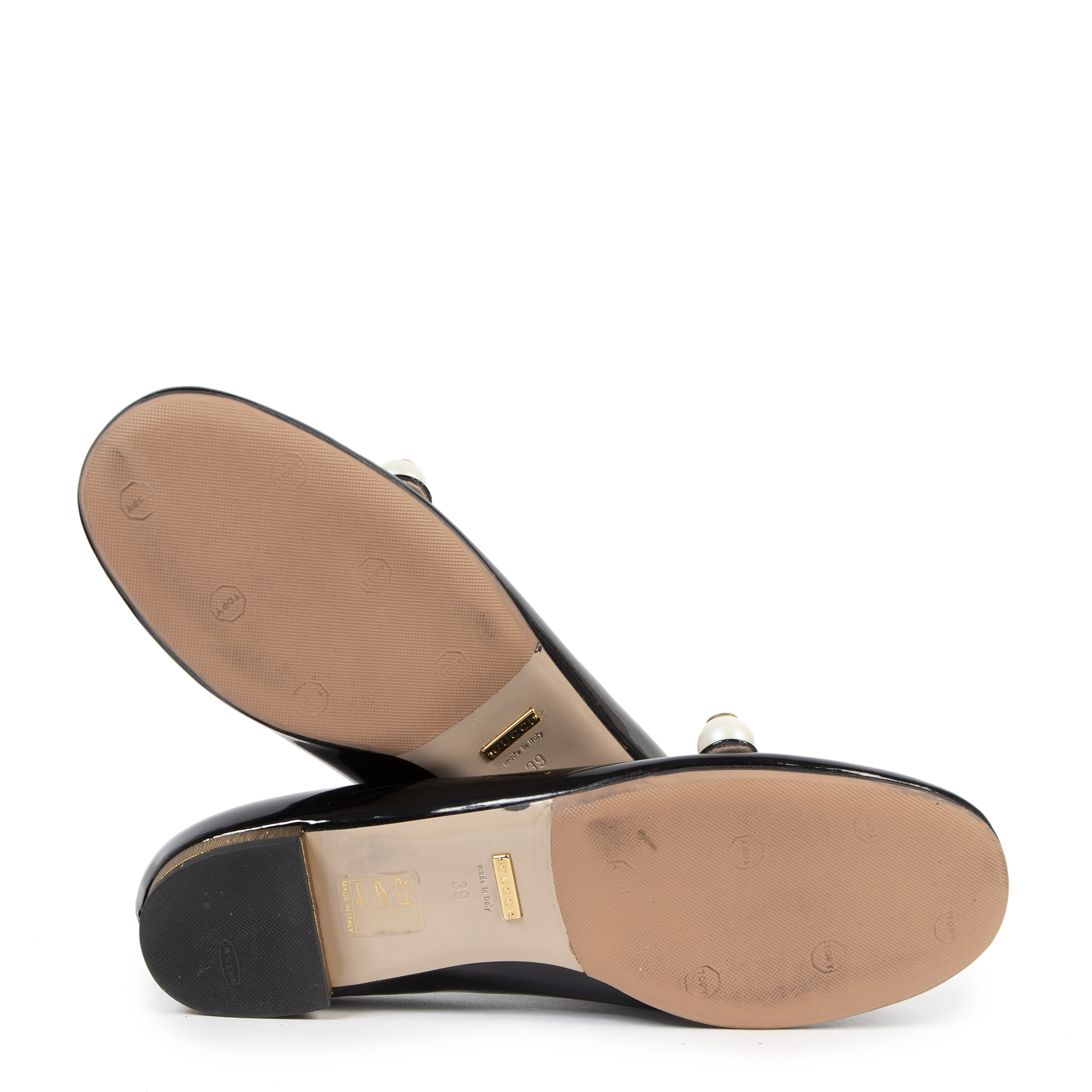 Gucci Black Patent Ballet Flats - Size EU39