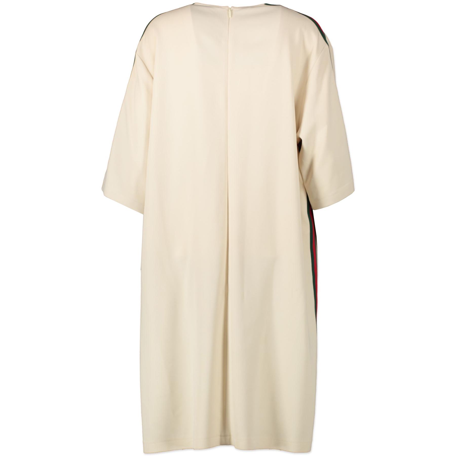 Gucci Cream Web 3/4 Sleeve Dress - size IT48 - kopen en verkopen aan de beste prijs