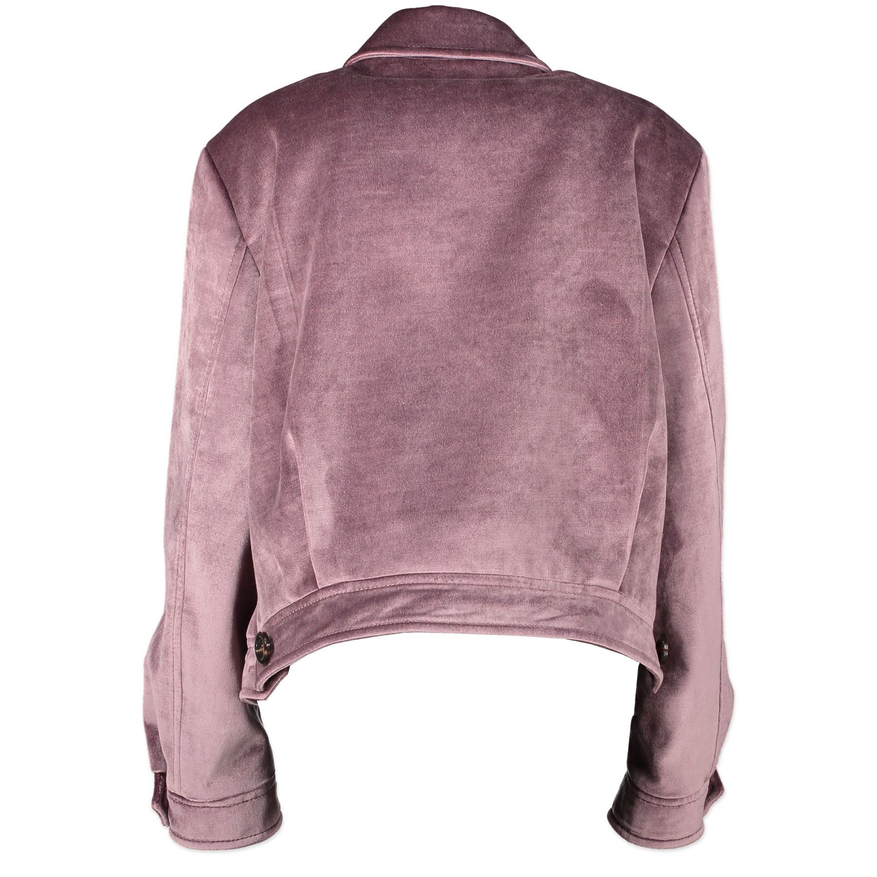 Authentic secondhand Miu Miu Purple Velvet Beaded Appliqué Jacket - Size IT46 designer clothing designer brands fashion luxury vintage webshop safe secure online shopping