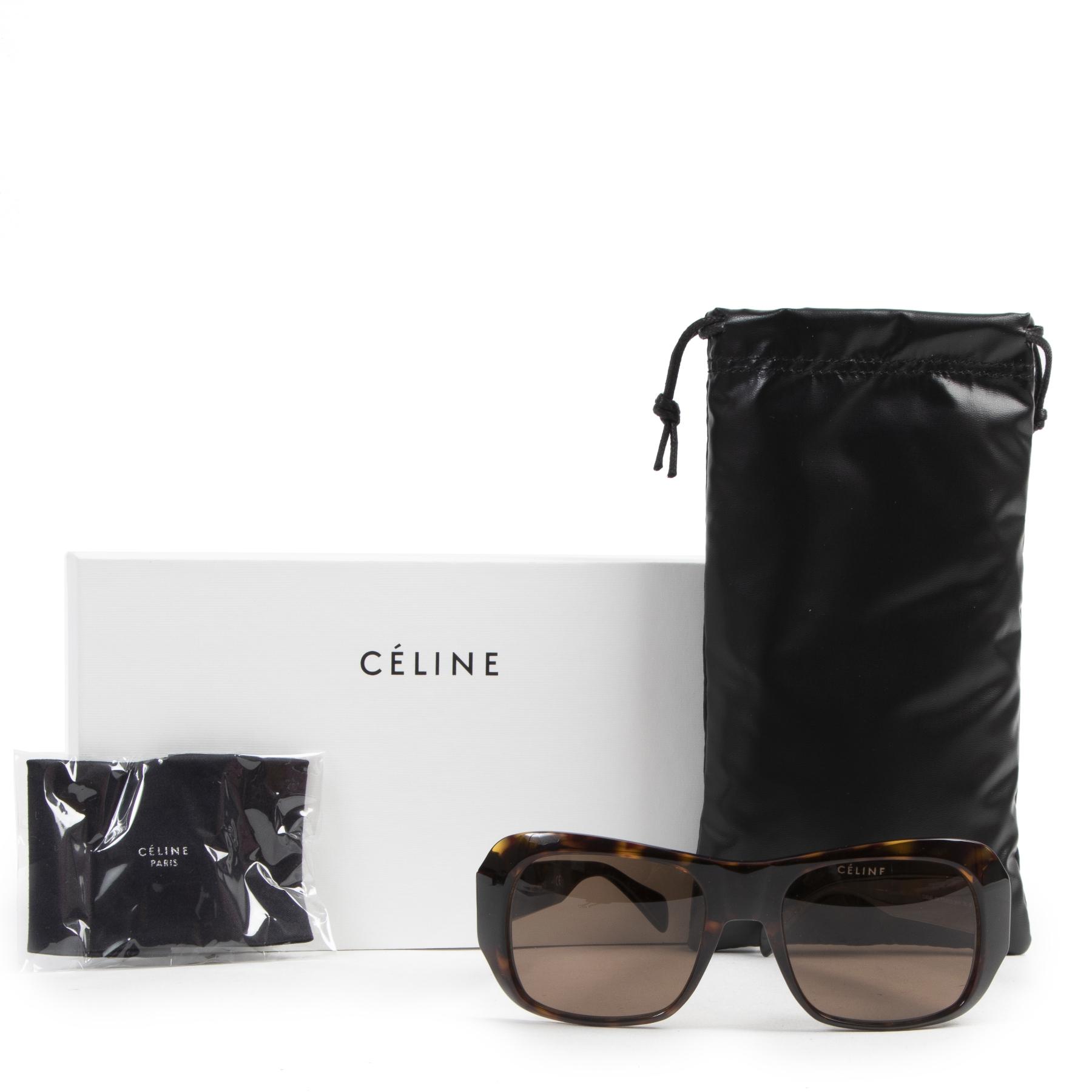 Céline Rectangular 0049 Dark Havana Sunglasses