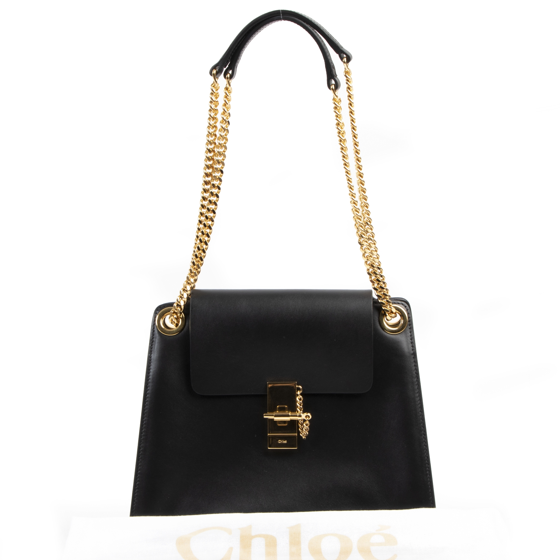 We buy and sell your authentic designer Chloé Black Annie Shoulder Bag GHW for the best price