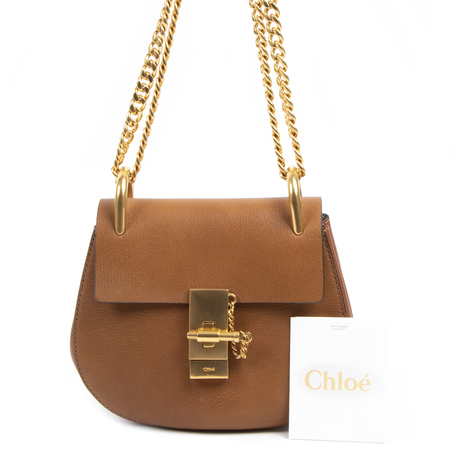 Chloé Brown Small Drew Bag GHW