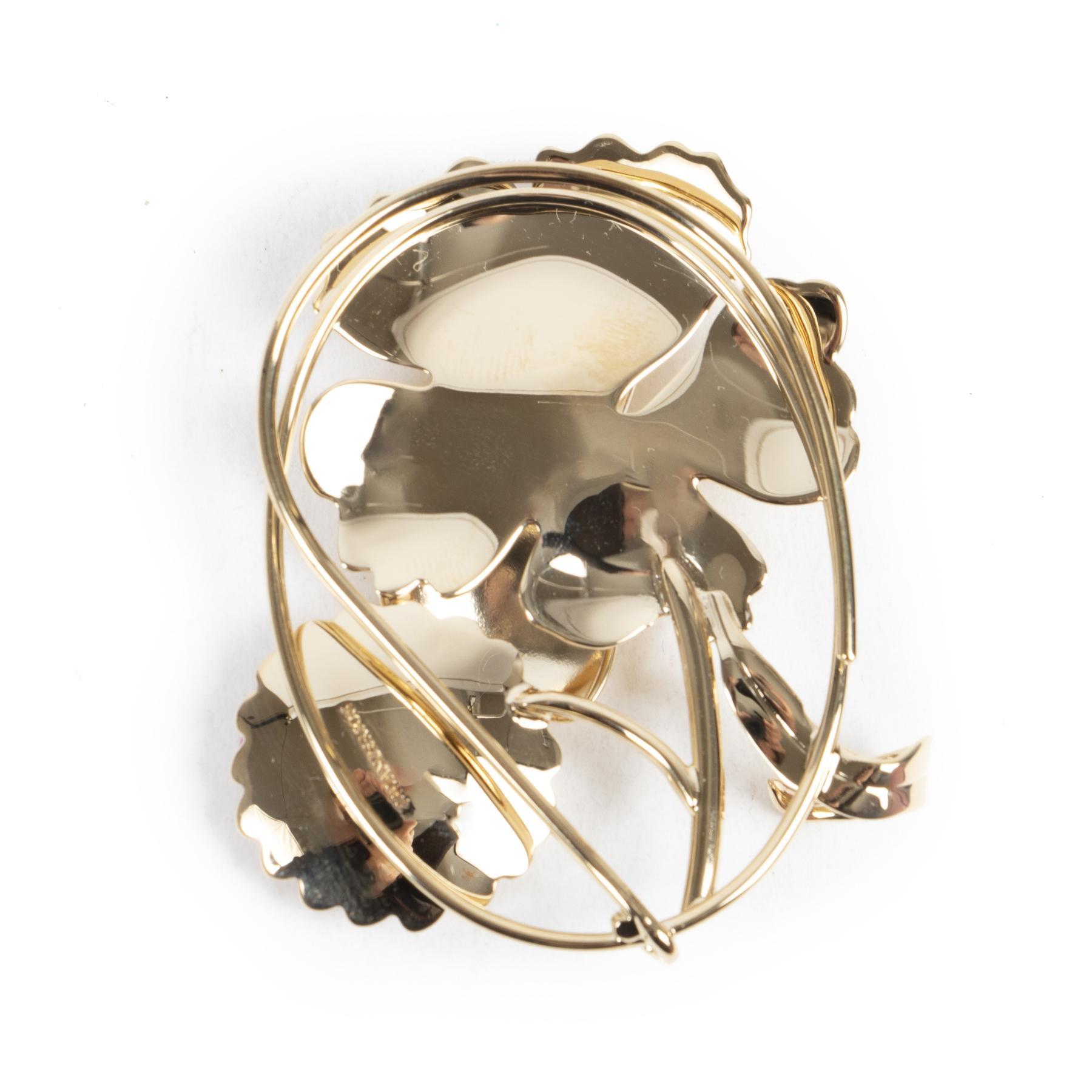 Authentieke Tweedehands J.W. Anderson Golden Daisy Floral Earpiece juiste prijs veilig online shoppen luxe merken webshop winkelen Antwerpen België mode fashion