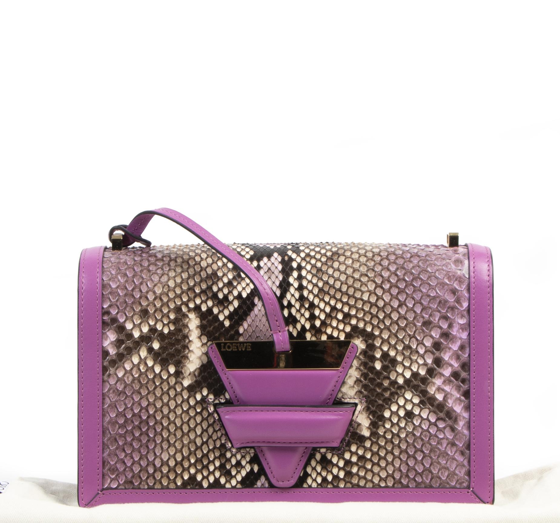 Loewe Python Fuchsia Barcelona Bag  brand new