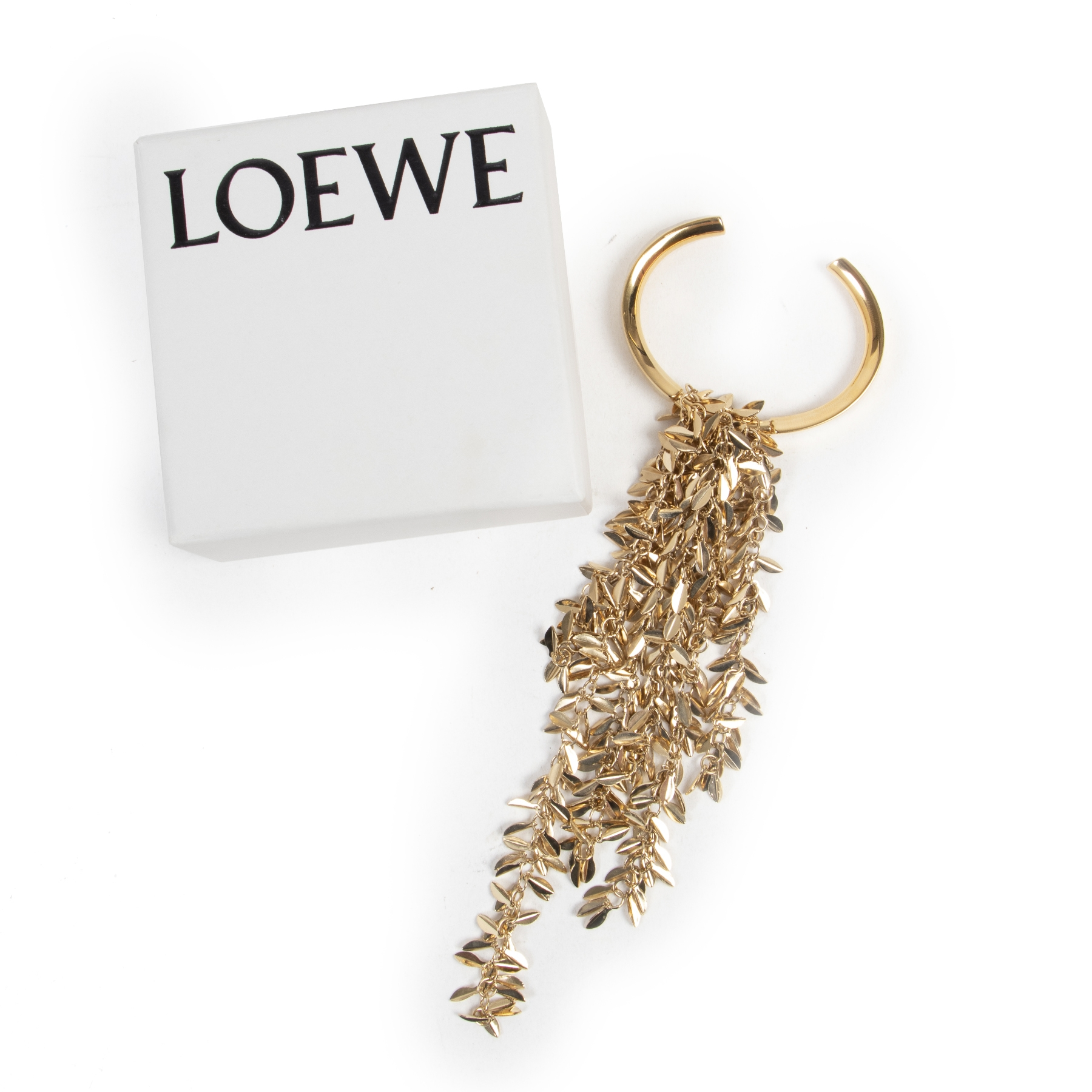 Authentic secondhand Loewe Golden Bracelet designer accessories fashion luxury vintage webshop safe secure online shopping