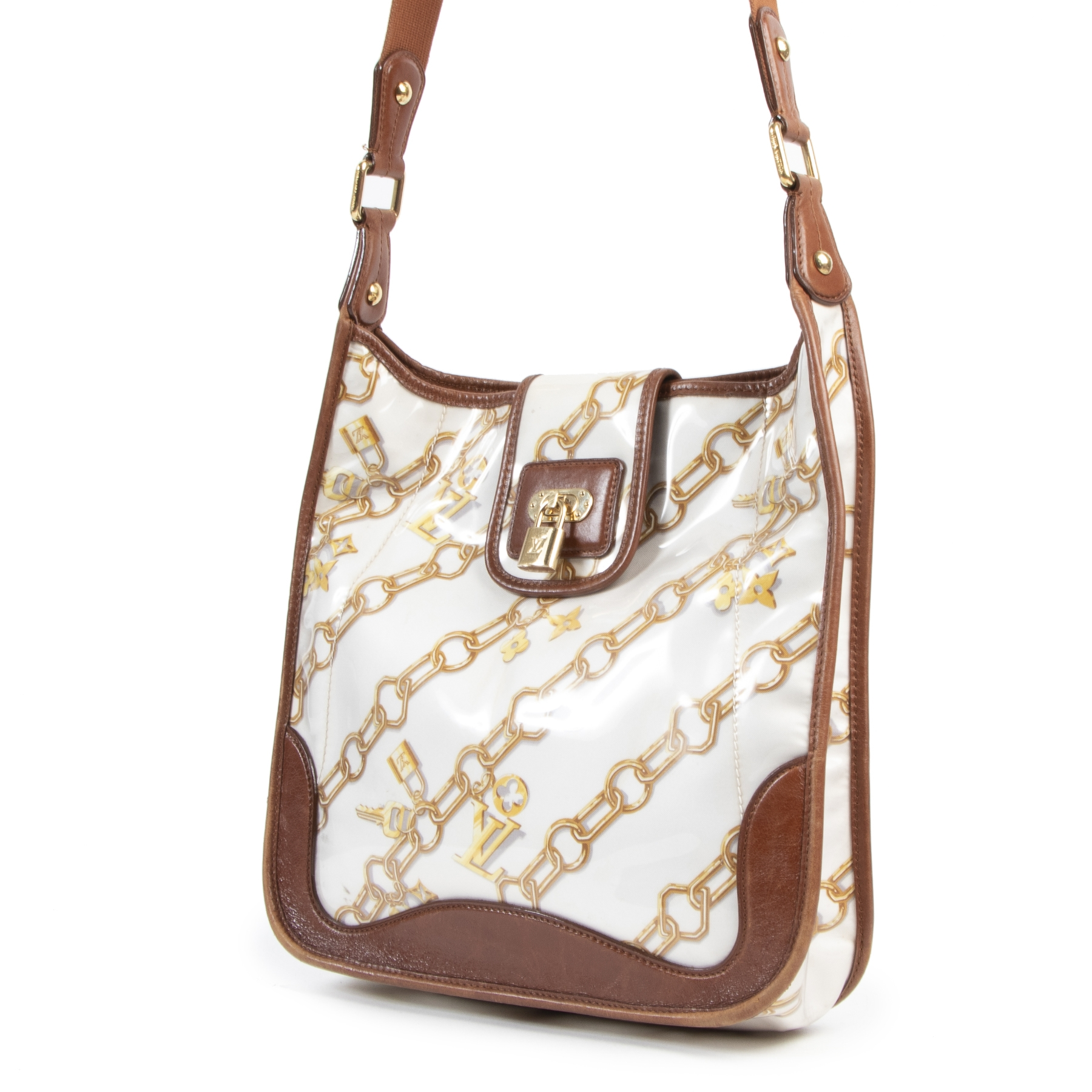Louis Vuitton White Charms Musette Shoulder Bag
