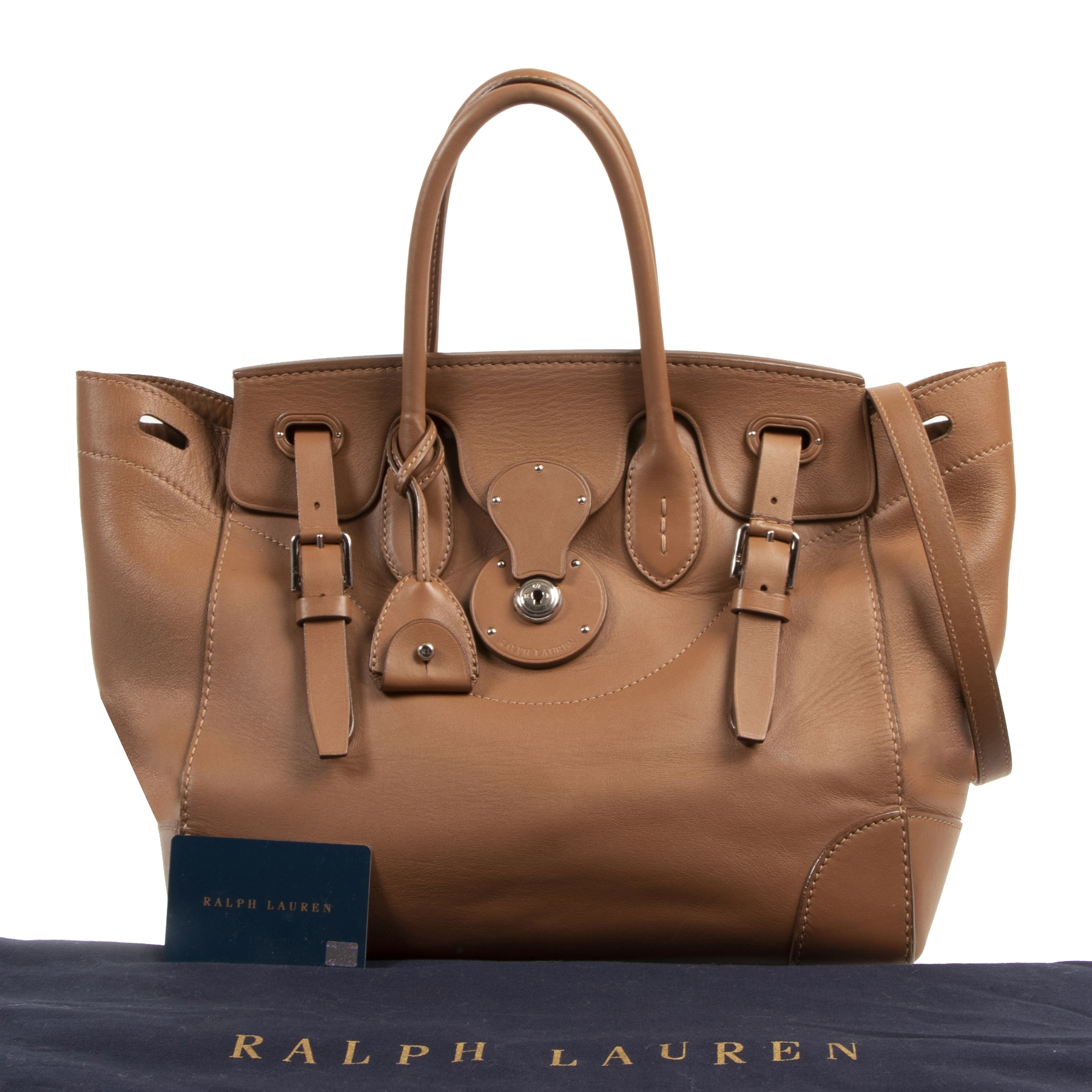 We buy and sell your authentic designer handbags and accessories Ralph Lauren Soft Ricky Bag