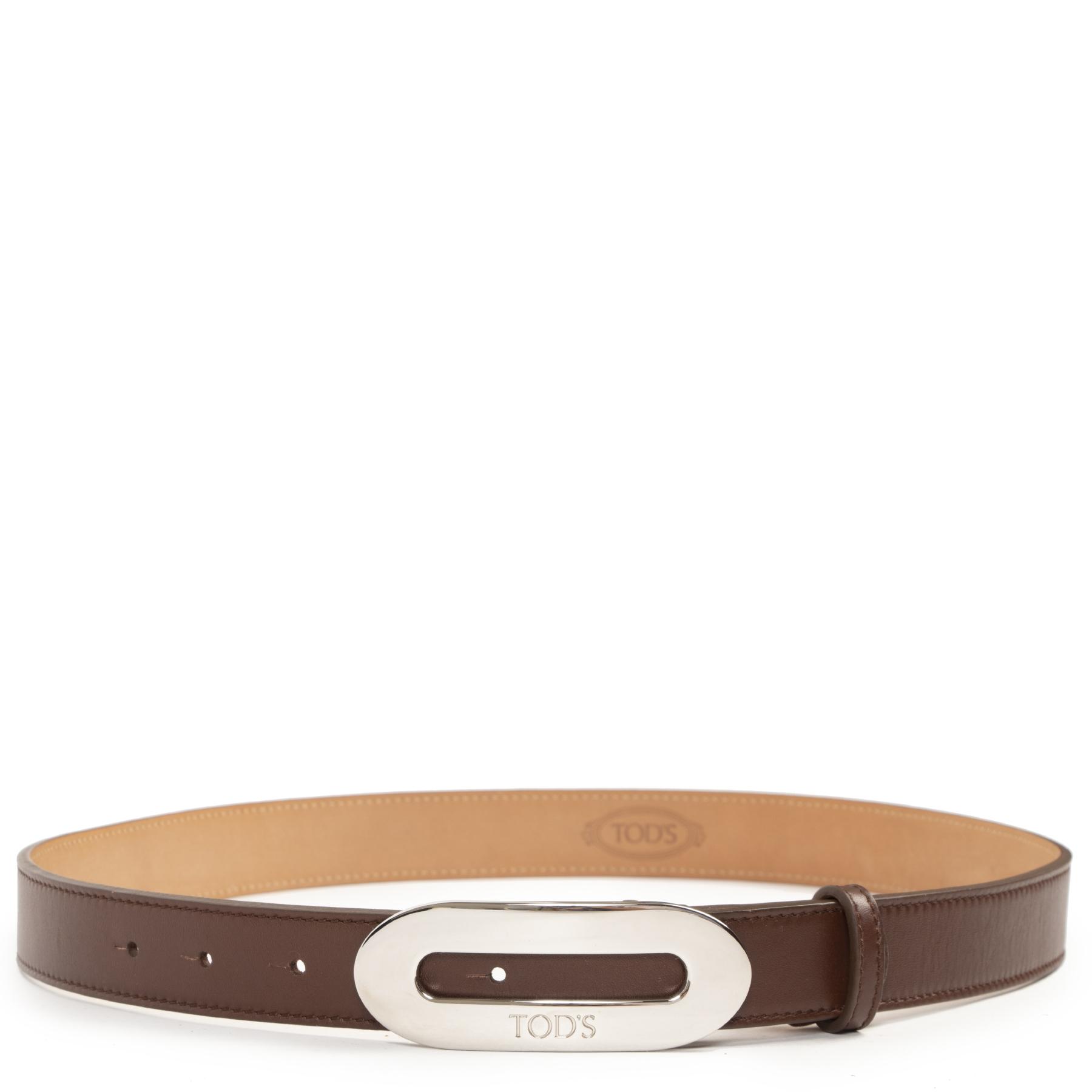 Tod's Brown Leather Belt - size 85 - pour le meilleur prix chez Labellov