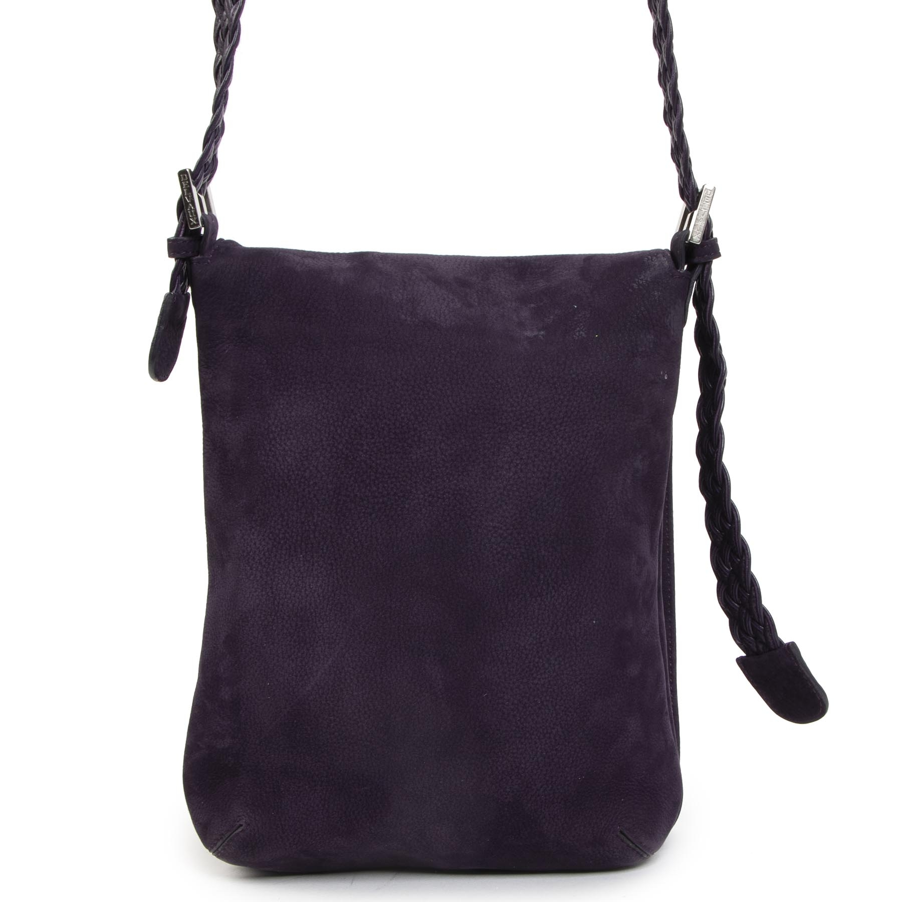 Authentic second-hand vintage Delvaux Purple Nubuck Crossbody Bag  buy online webshop LabelLOV