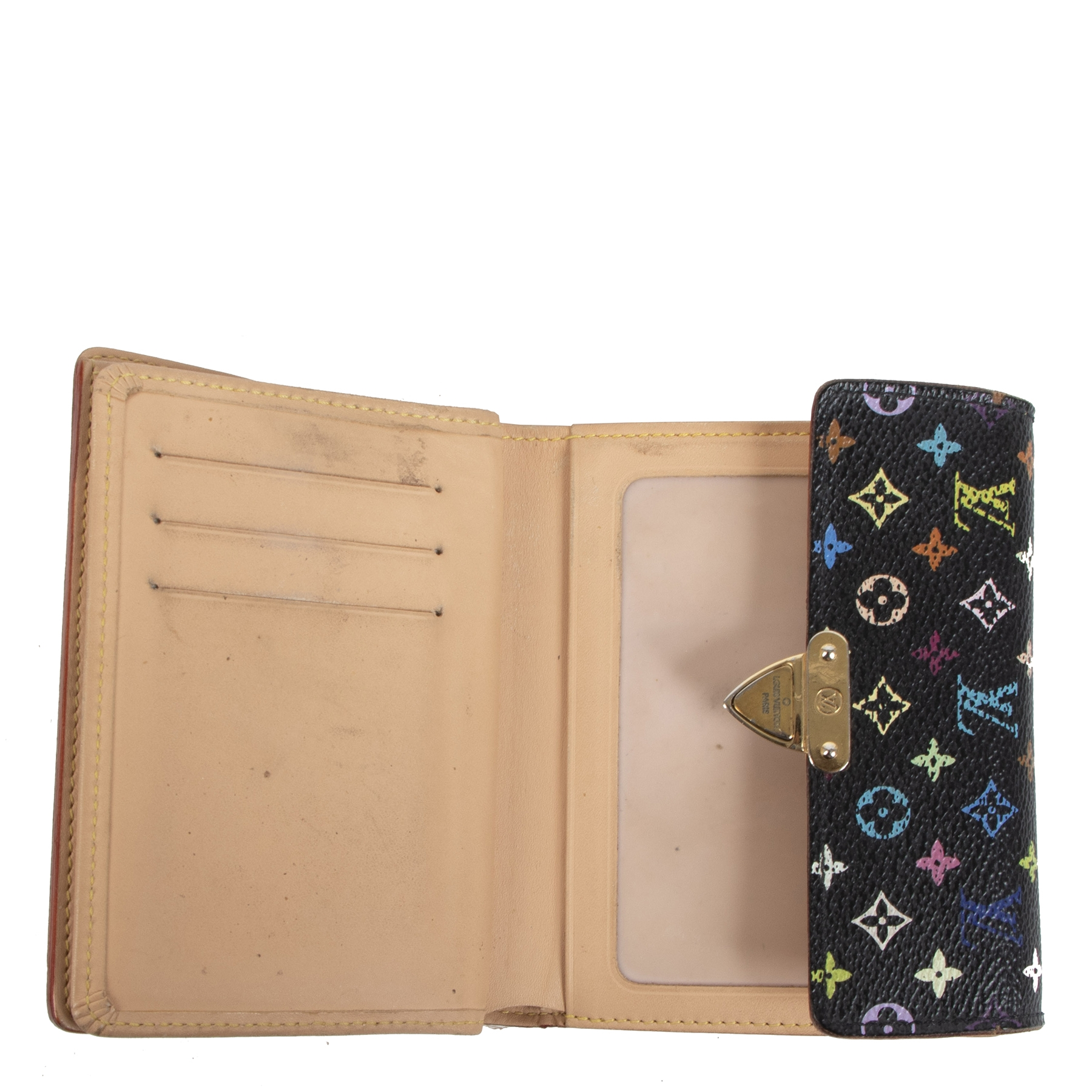 Authentique seconde main vintage Louis Vuitton Multicolor Koala Wallet Black achète en ligne webshop LabelLOV