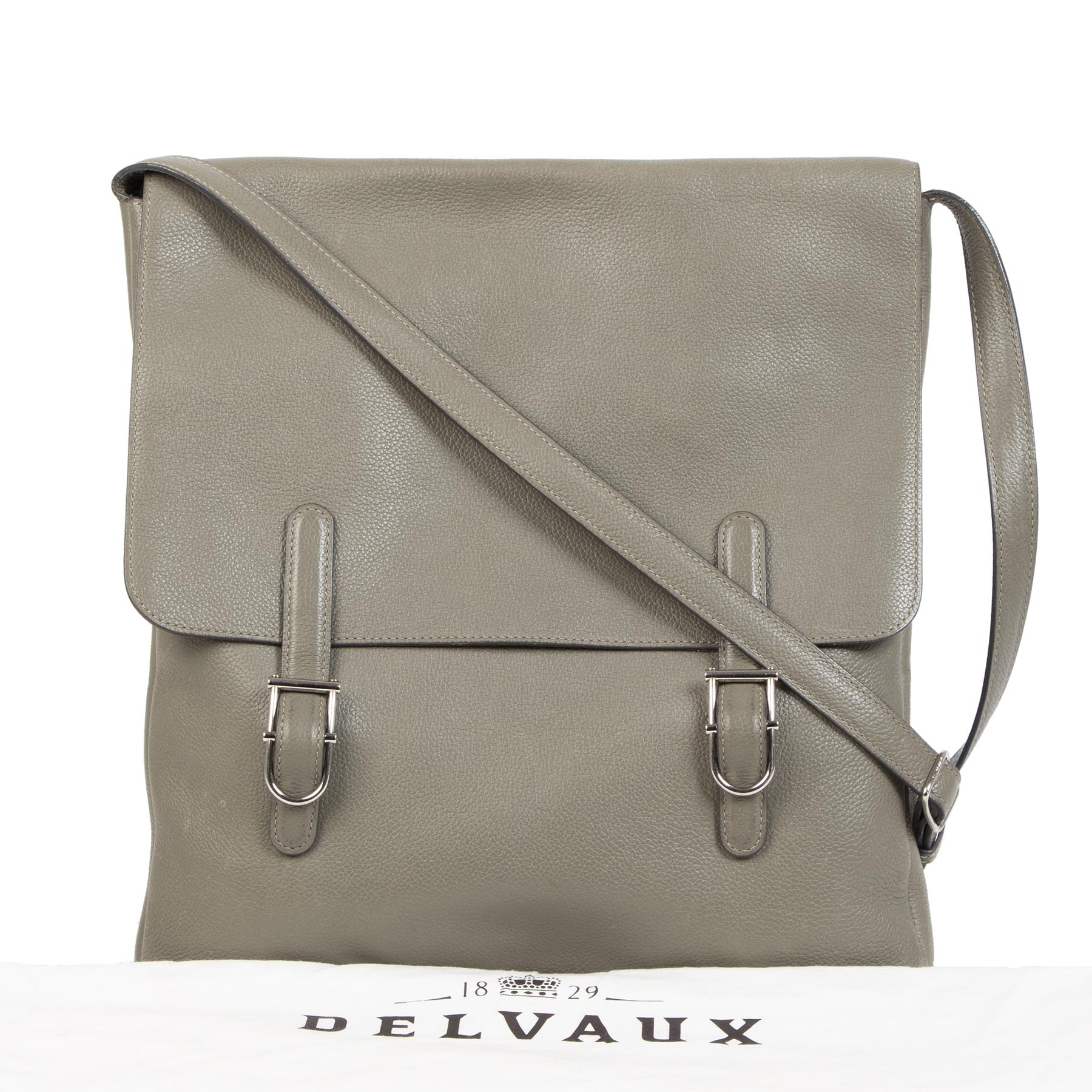 Authentieke tweedehands vintage Delvaux Kot Kot Messenger Bag koop online webshop LabelLOV
