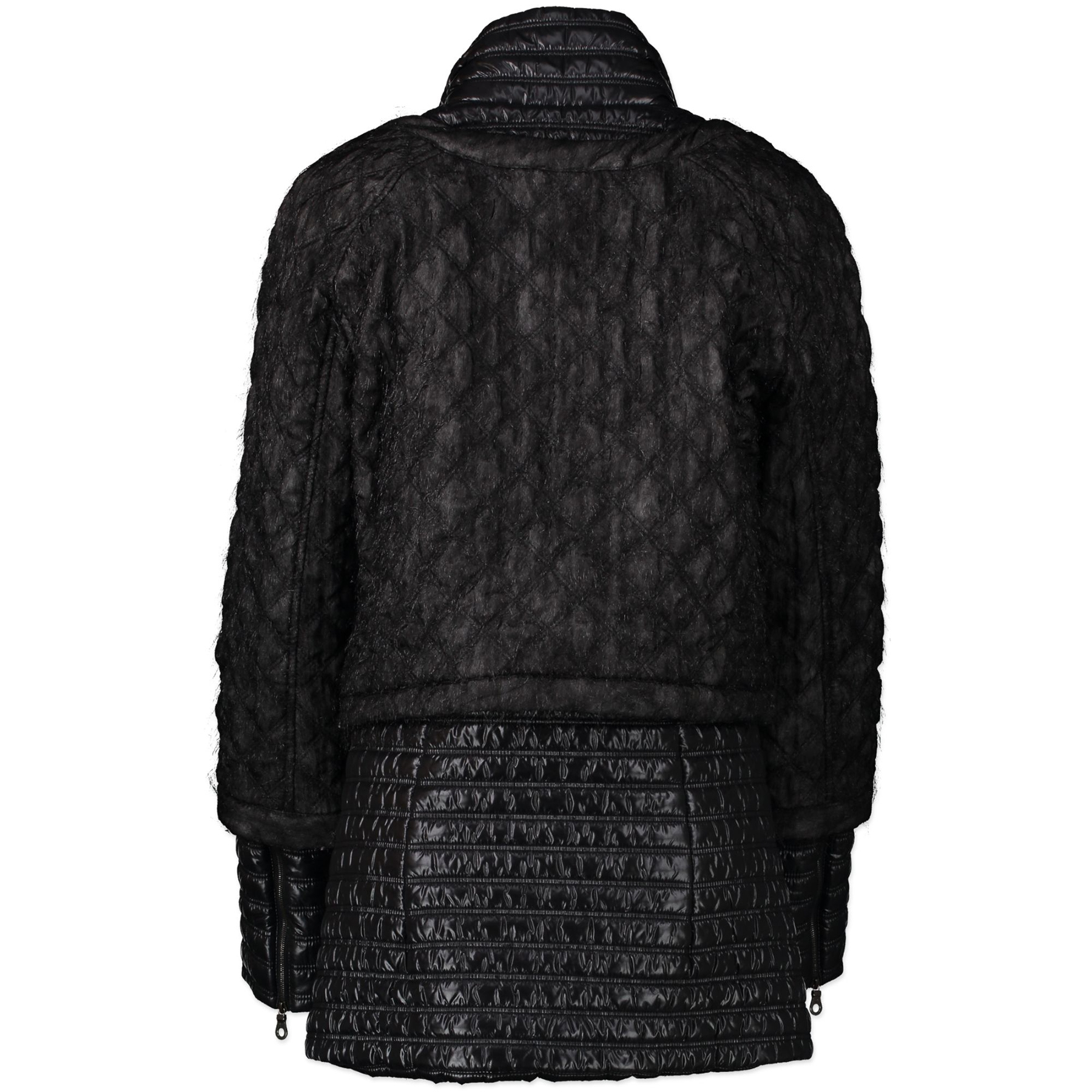 Authentieke Tweedehands Chanel Black Tweed Ski Jacket - Size FR42 juiste prijs veilig online shoppen luxe merken webshop winkelen Antwerpen België mode fashion