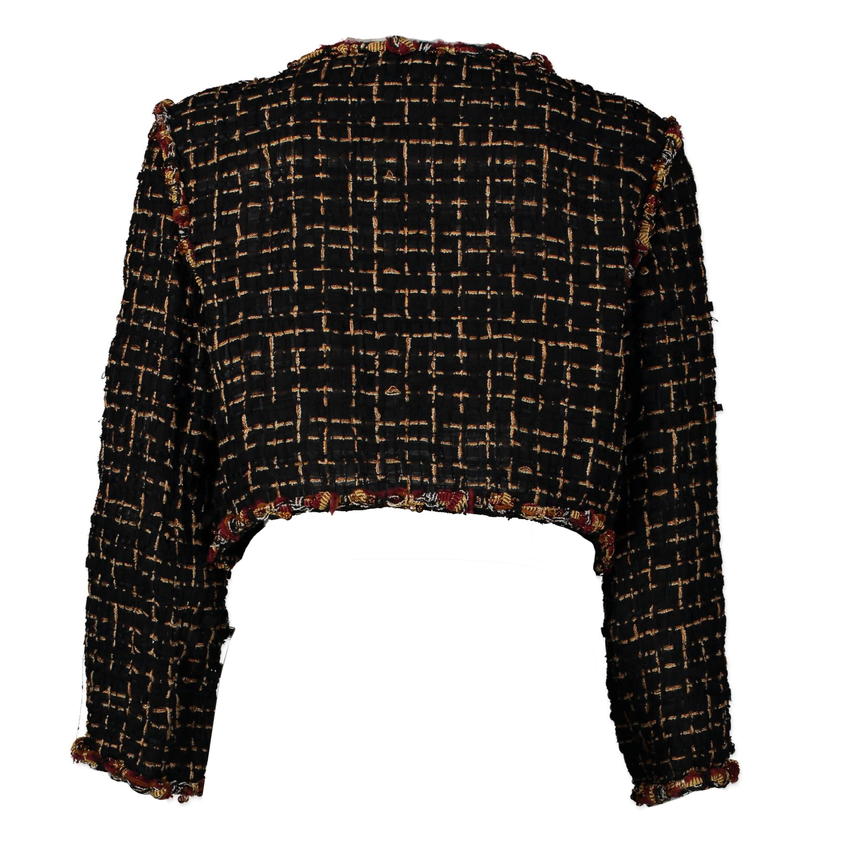 Chanel Black Tweed Jacket for the best price at Labellov secondhand luxury