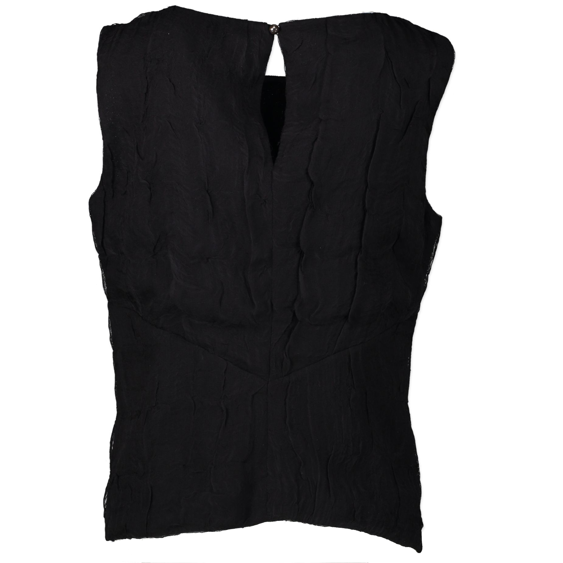 Koop en Chanel Black Silk Top