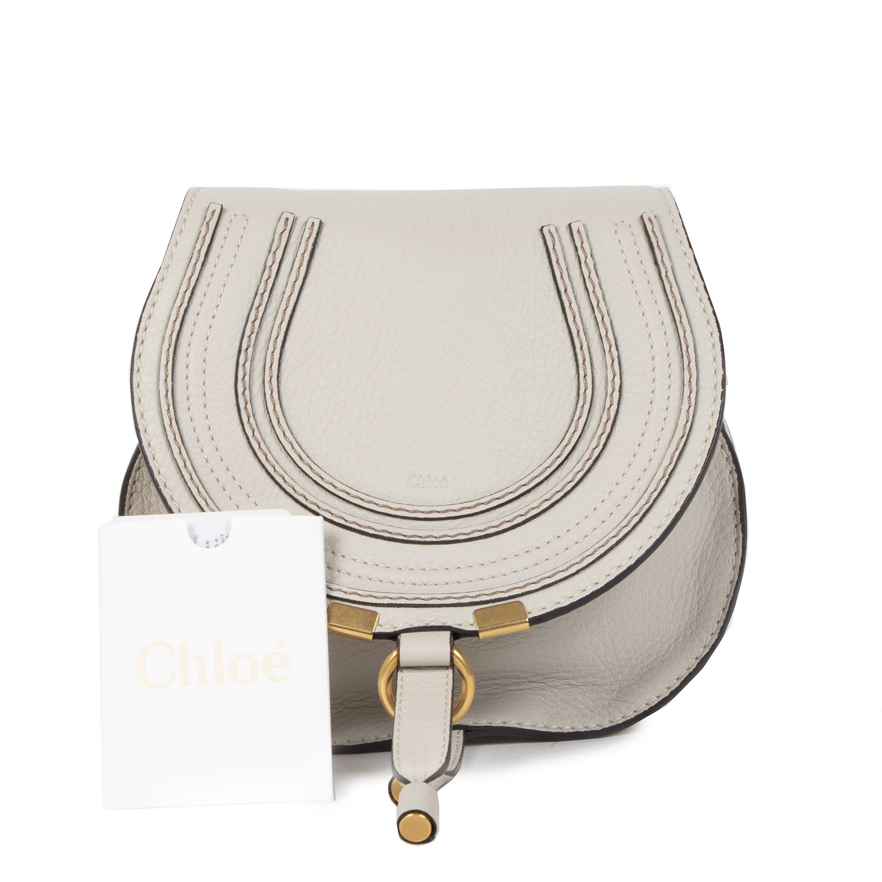 Authentieke tweedehands vintage Chloé Light Cloud Mini Marcie Crossbody Bag buy online webshop LabelLOV