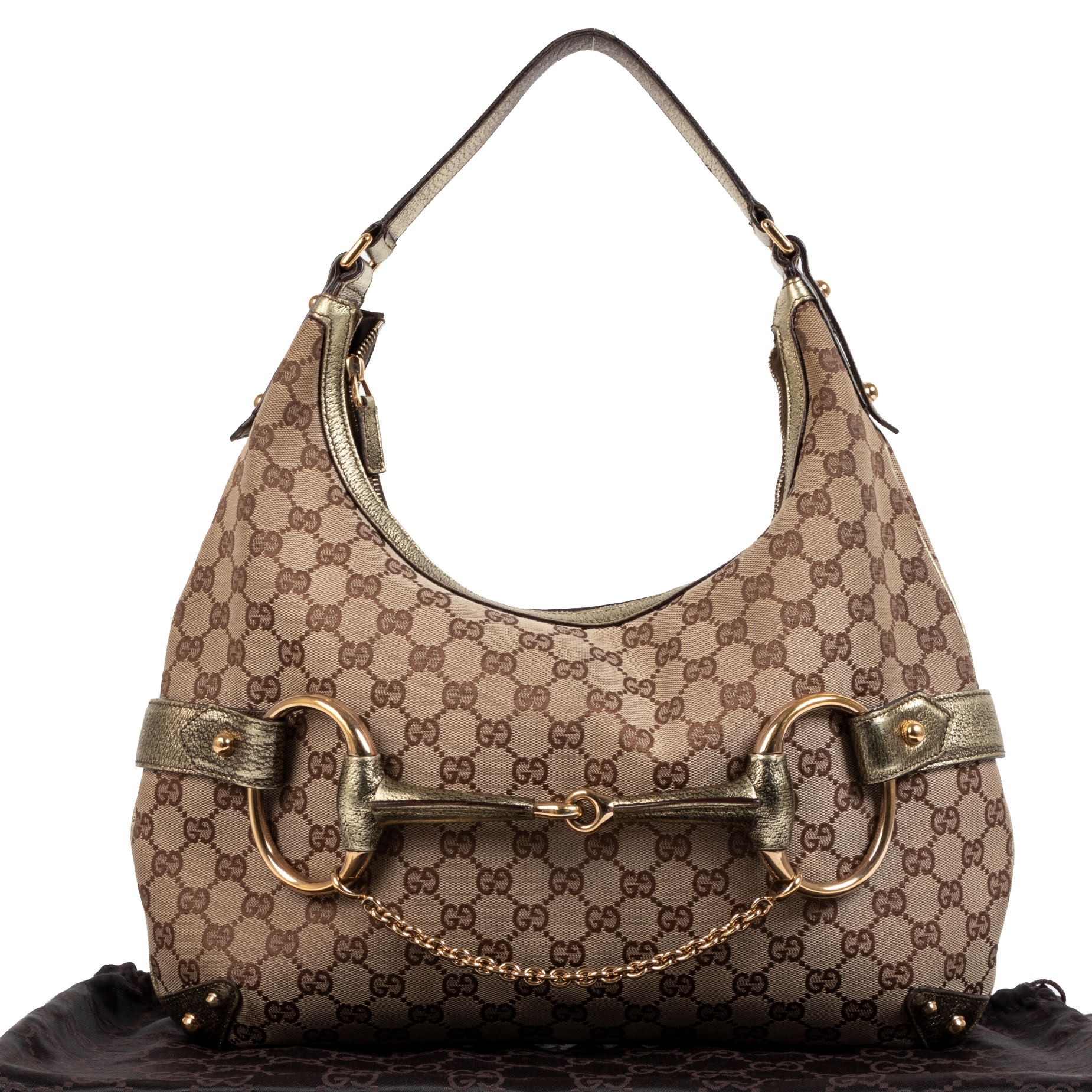 Gucci GG Monogram Metallic Hobo Bag  acheter enlarge pour le meilleur prix