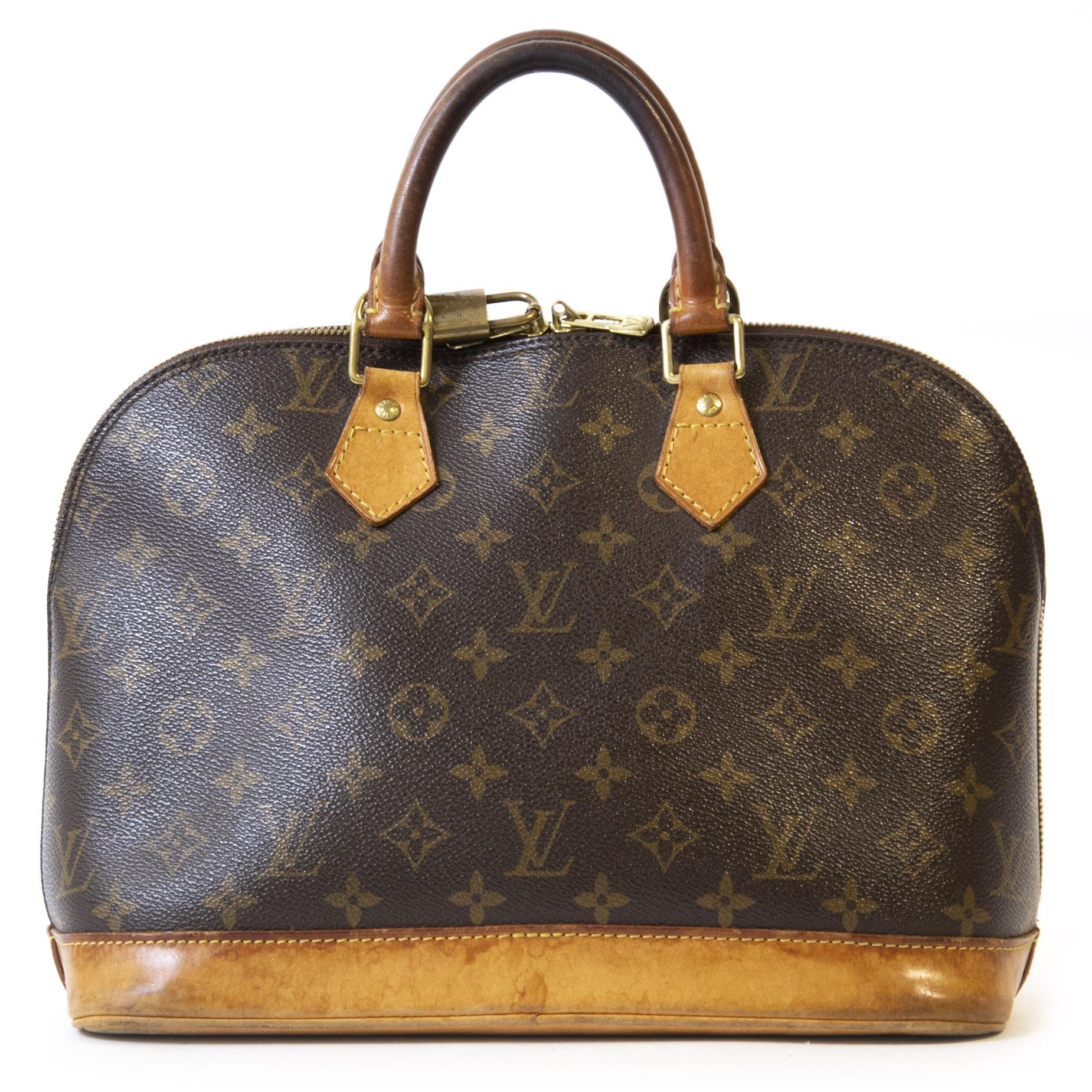Authentieke Tweedehands Louis Vuitton Monogram Alma Top Handle Bag juiste prijs veilig online shoppen luxe merken webshop winkelen Antwerpen België mode fashion