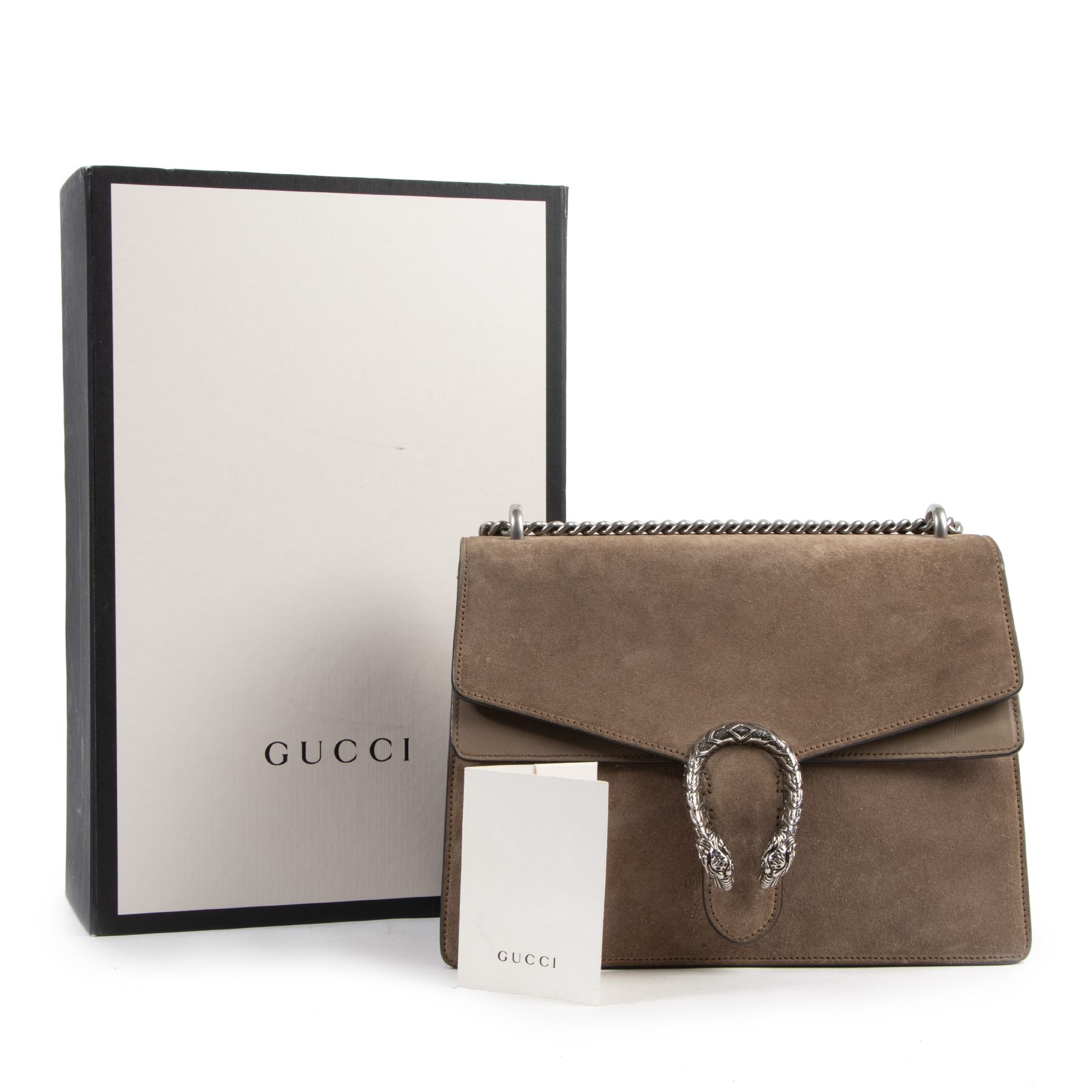 Buy and sell 100% authentic designer vintage Gucci Suede Beige Dionysus