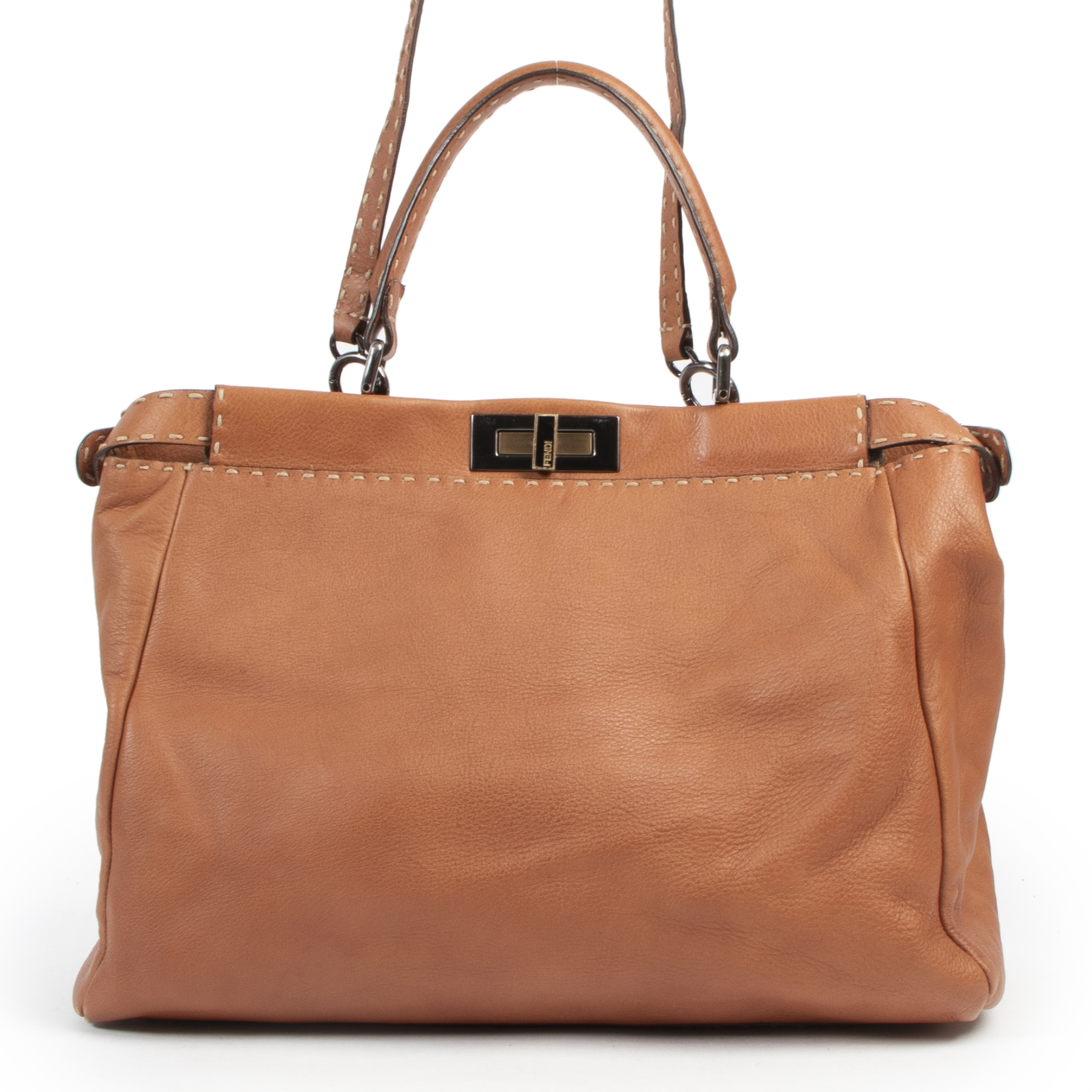 Are you looking for an authentic designer Fendi Cognac Leather Peekaboo