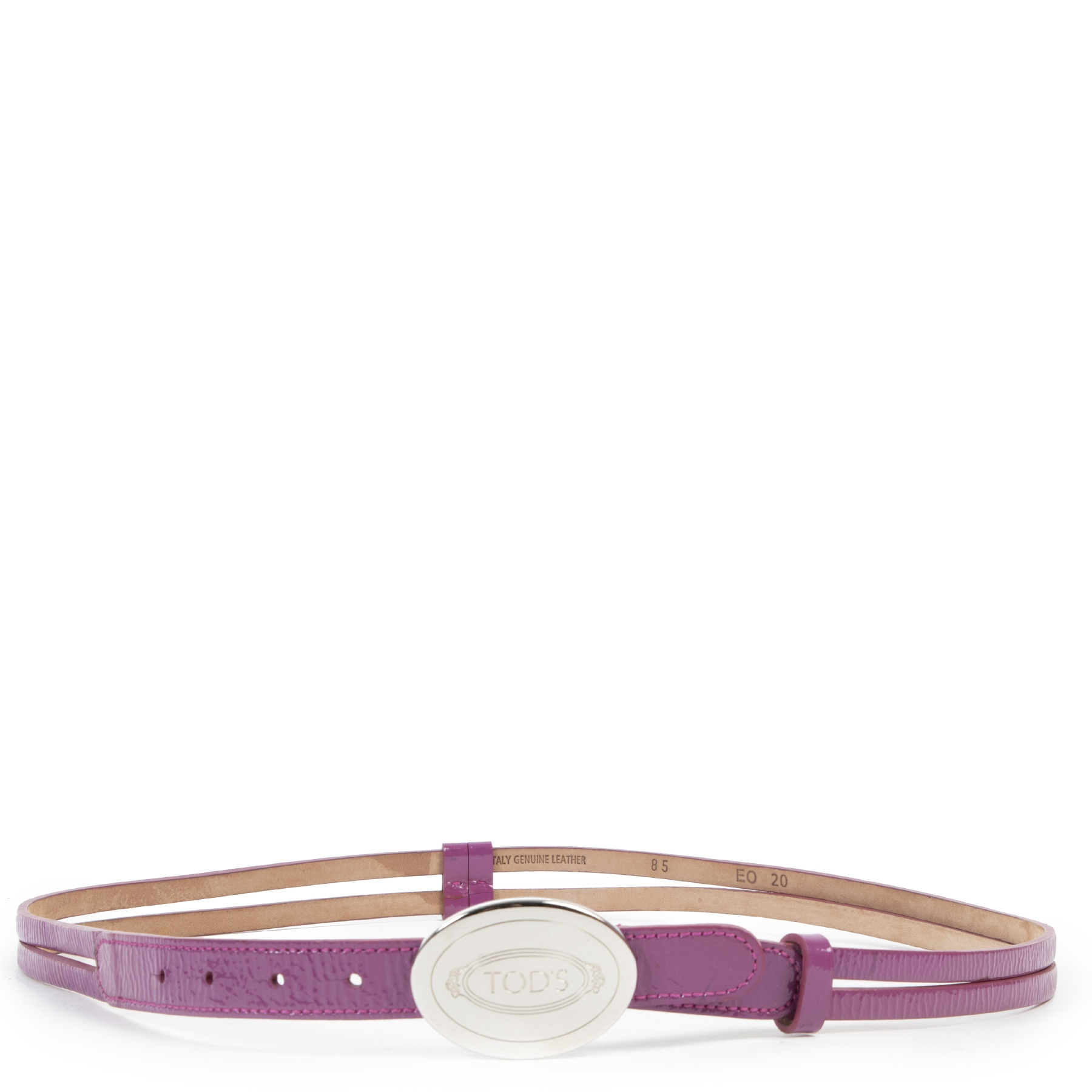 Tod's Purple Patent Leather Belt