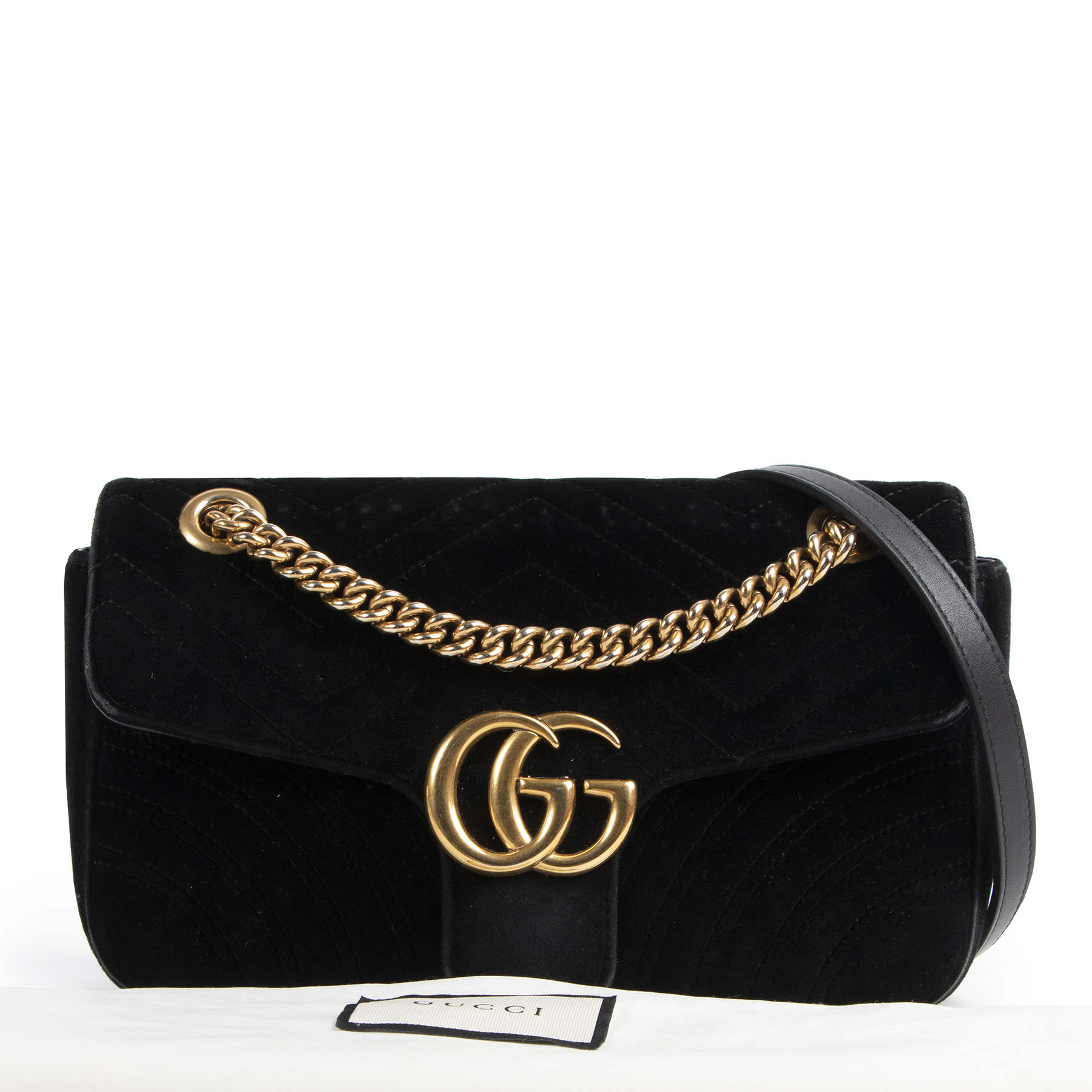 we buy and sell your Gucci Black Velvet Marmont Bag
