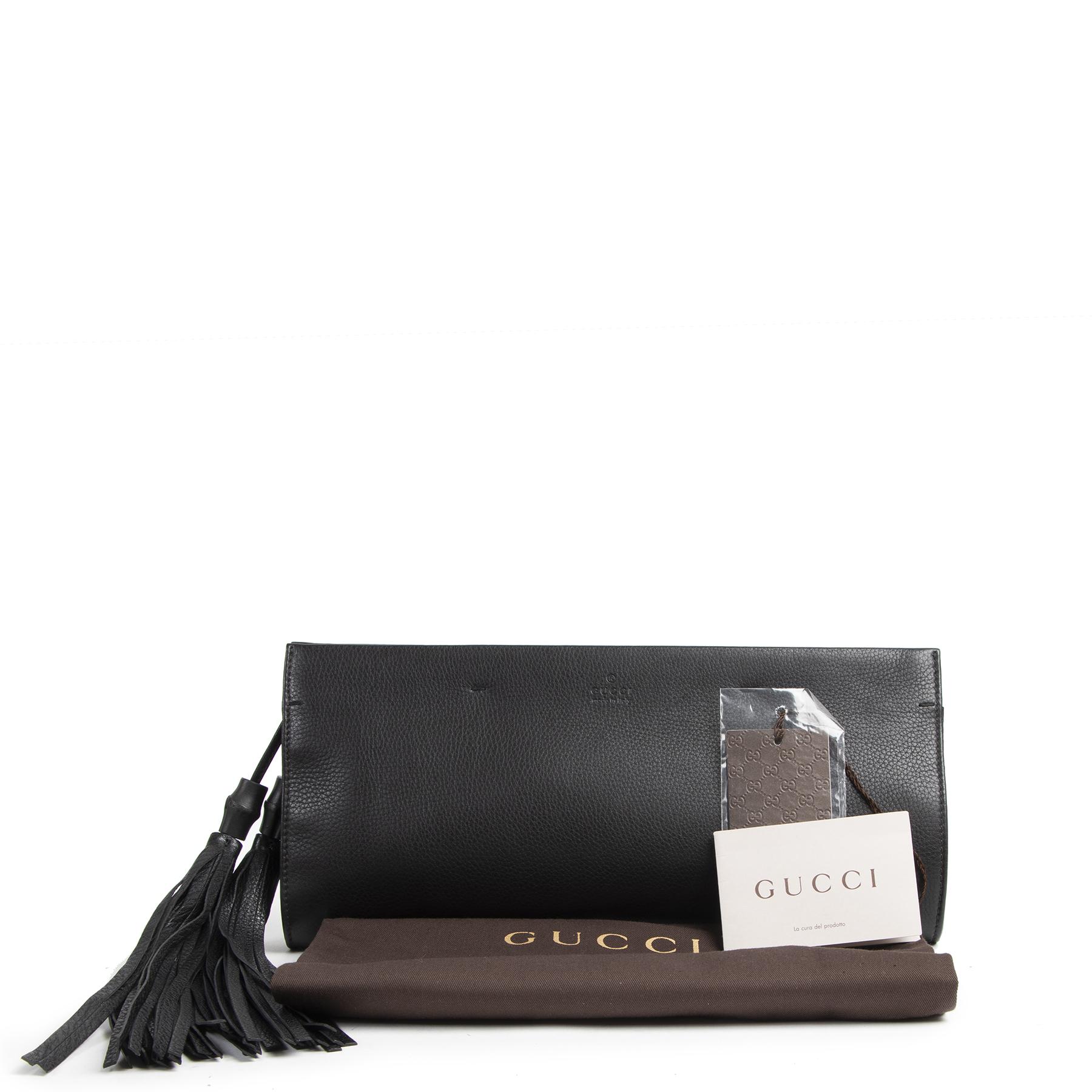 Authentieke tweedehands Gucci Clutch juiste prijs veilig online winkelen LabelLOV webshop luxe merken winkelen Antwerpen België mode fashion