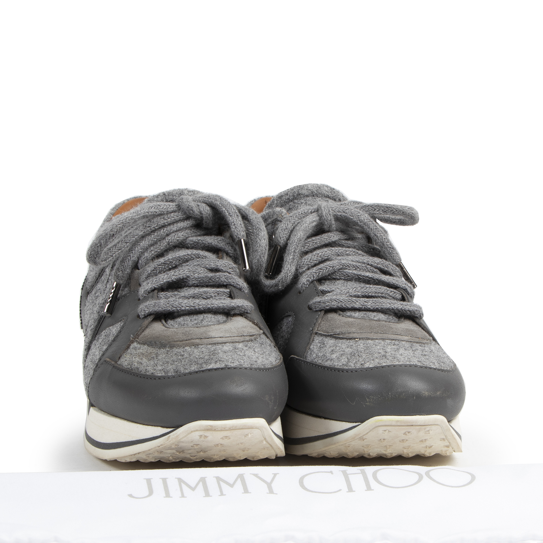 Authentic secondhand Jimmy Choo sneakers designer bags luxury vintage webshop fashion safe secure online shopping designer brands