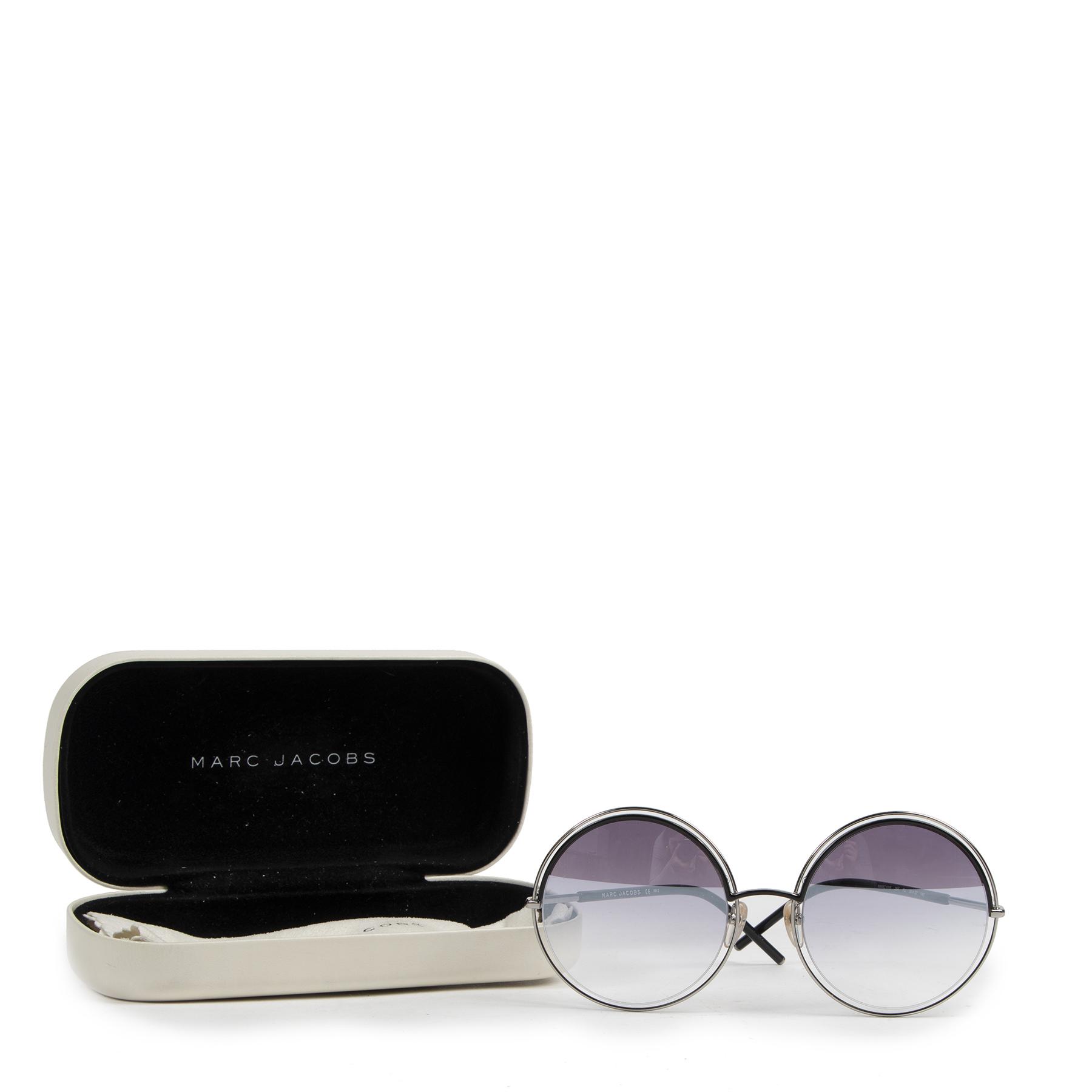 Authentic secondhand Marc Jacobs Black Marc 11s Round Sunglasses designer accessories fashion luxury vintage webshop safe secure online shopping