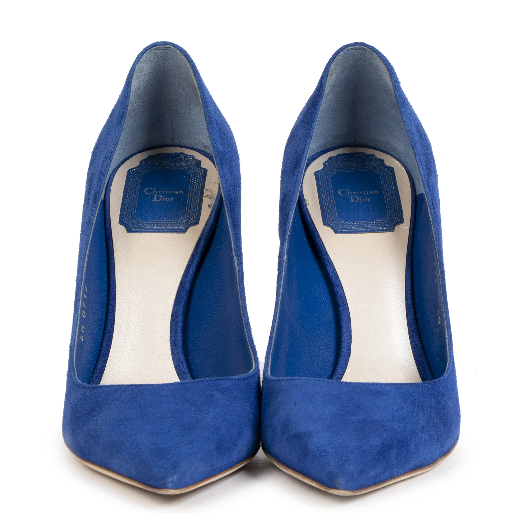 Authentic secondhand Dior Blue Suede Pumps - Size 38 designer bags designer accessories vintage webshop worldwide shipping safe secure online shopping