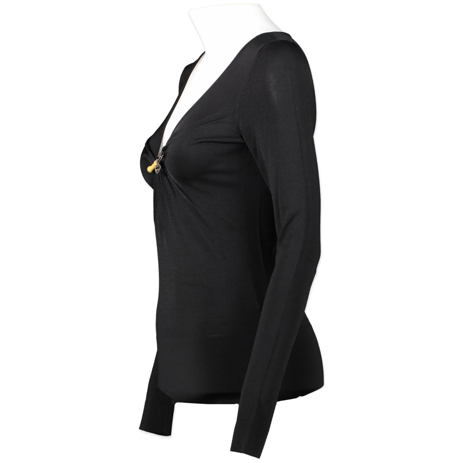 Authentieke tweedehands Gucci black bamboo pin top juiste prijs veilig online winkelen luxe merken webshop winkelen Antwerpen België mode fashion