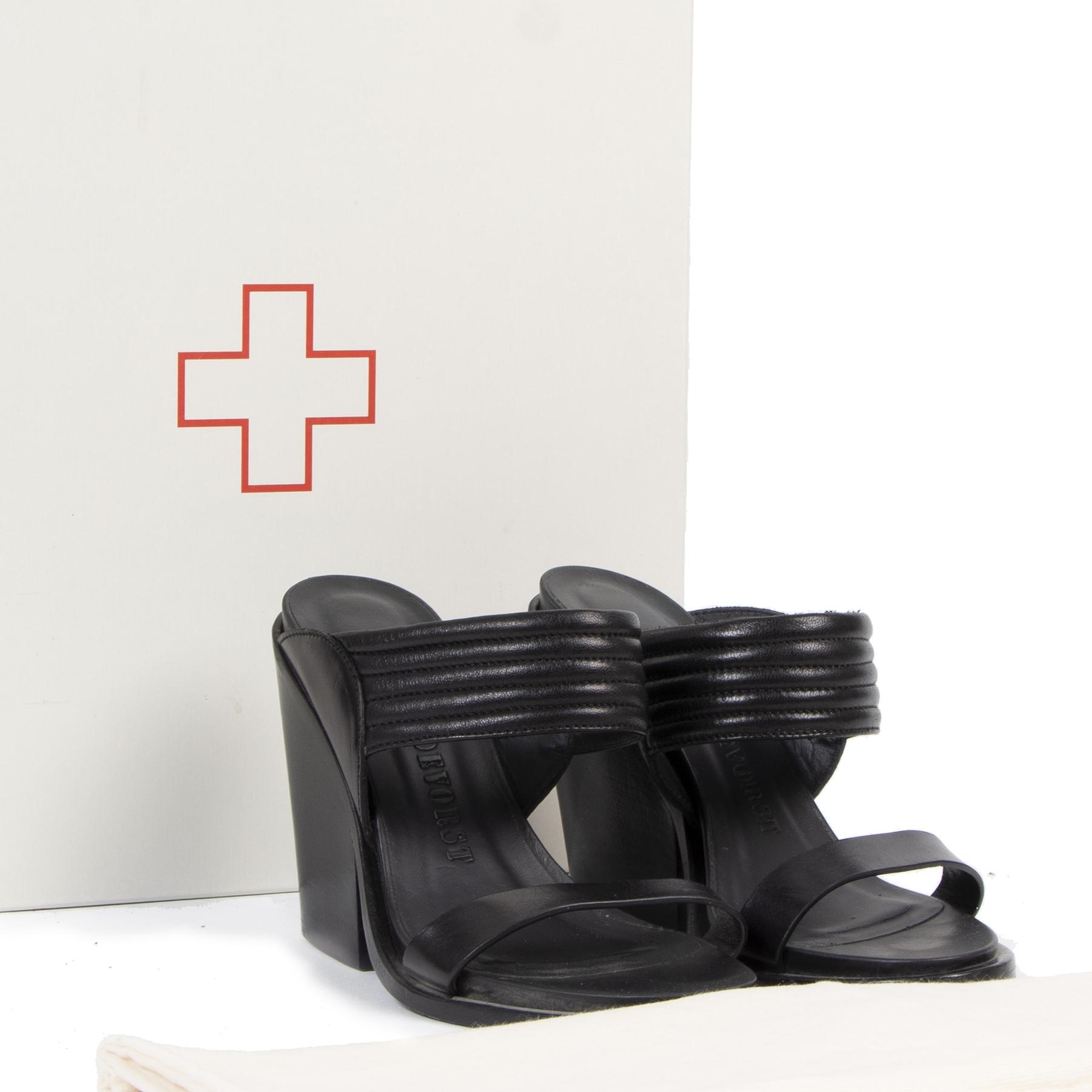 A.F. Vandevorst Black Mules - size 36 te koop tweedehands bij Labellov luxe in Antwerpen