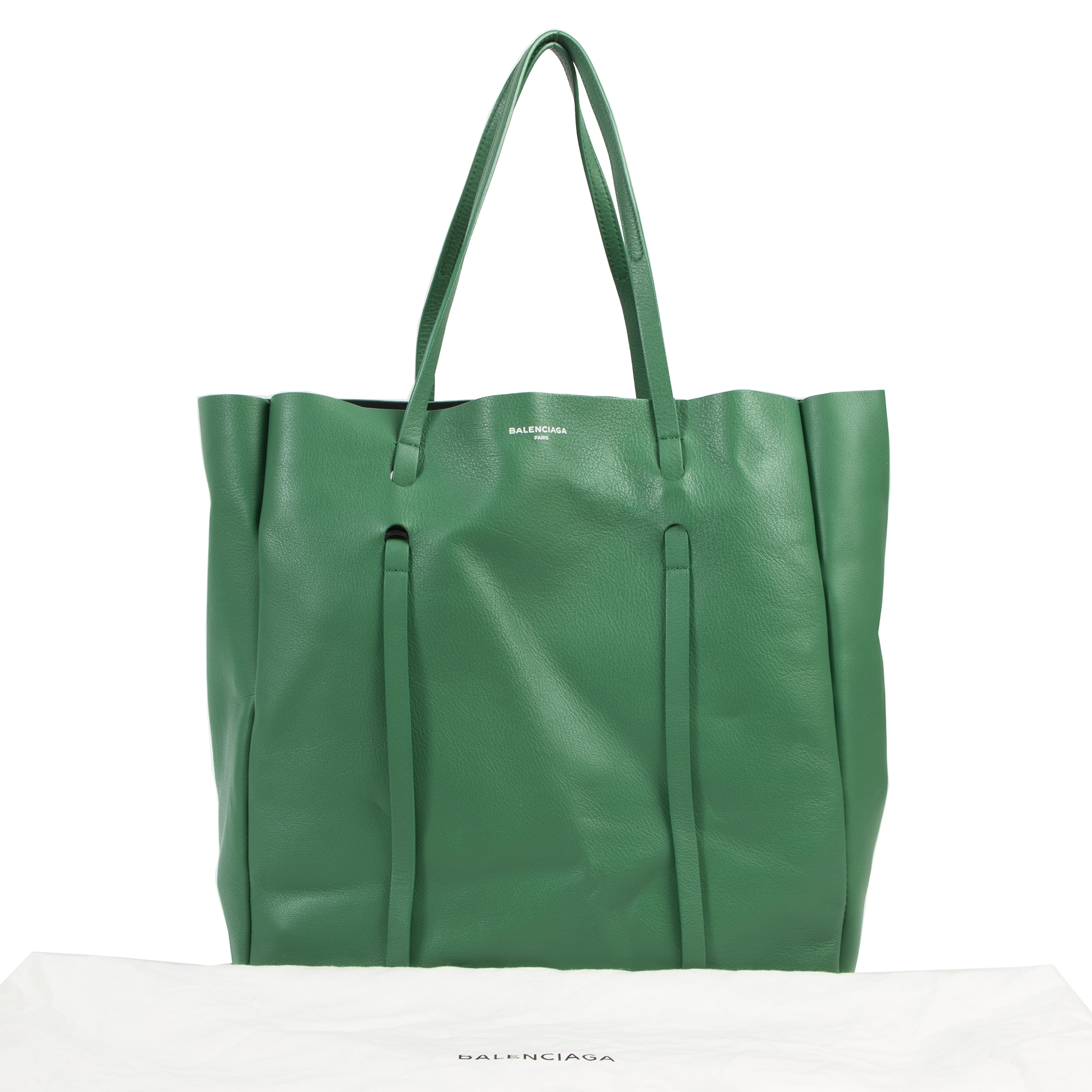 shop safe online Balenciaga Green Medium Everyday Calfskin Tote.