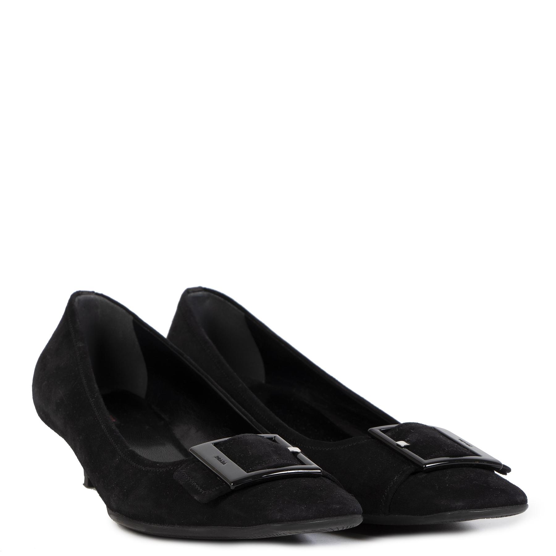 Tweedehands authentieke Black Prada Heels - Size 40,5 aan de juiste prijs veilig online LabelLOV vintage webshop luwe merken Antwerpen Belgë