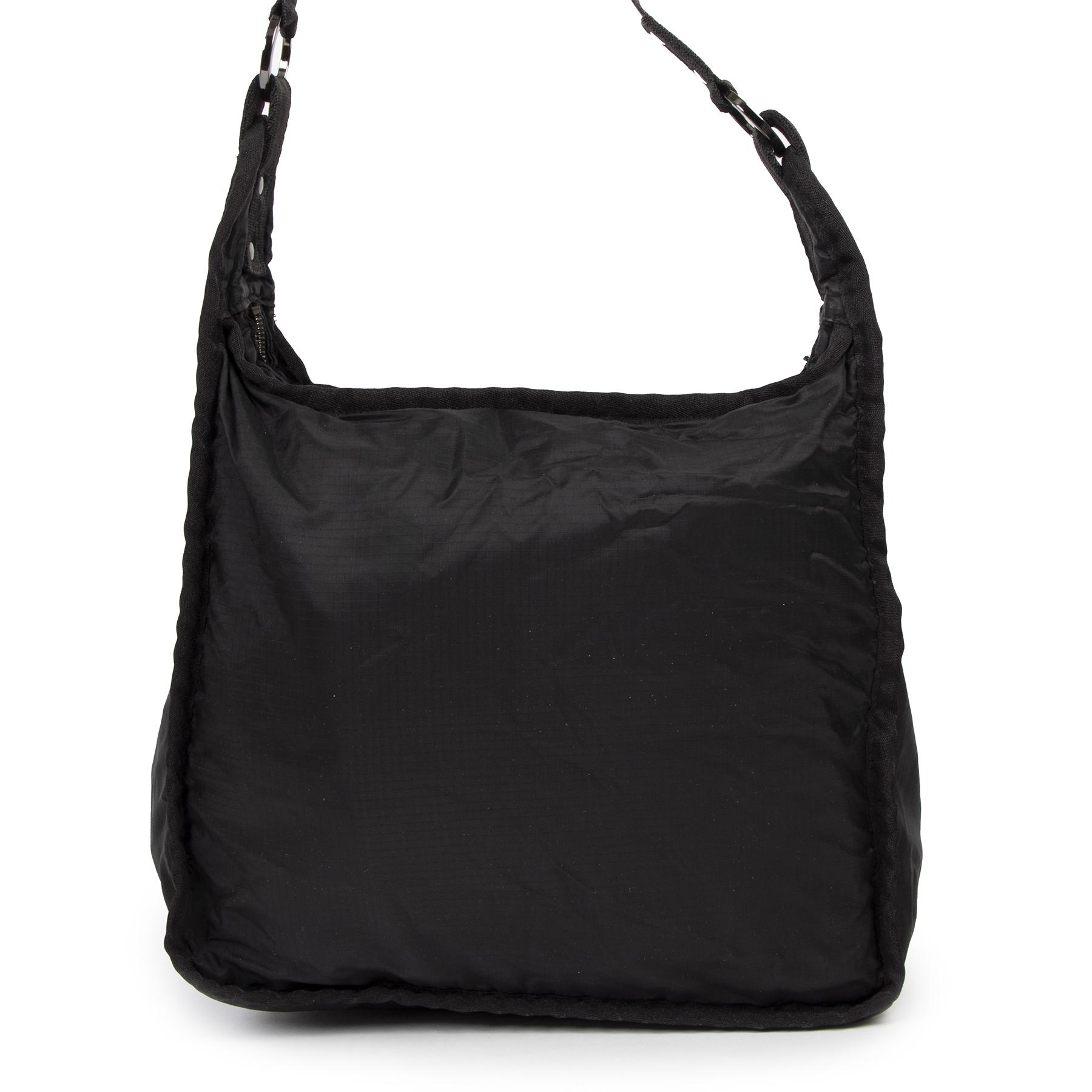 Authentic secondhand Stella McCartney Black Nylon Shoulder Bag designer bags luxury vintage webshop fashion safe secure online shopping