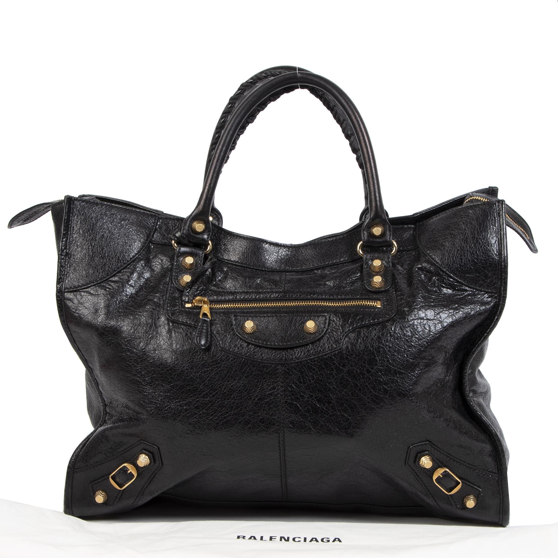 Balenciaga Monday Black Agneau Leather Shopper