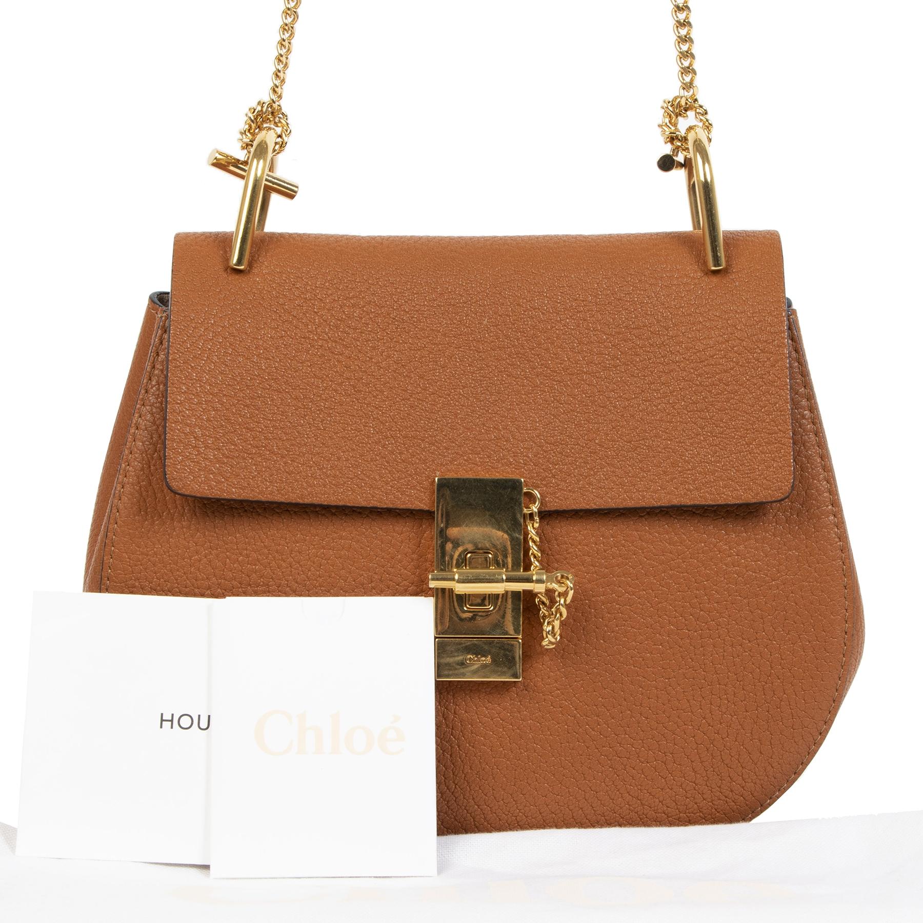 Chloé Tan Grained Calfskin Medium Drew Bag