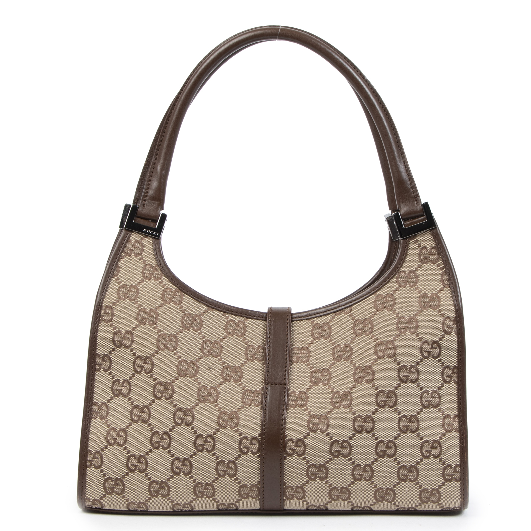 Are you looking for a 100% authentic Gucci Brown Monogram Shoulder Bag?
