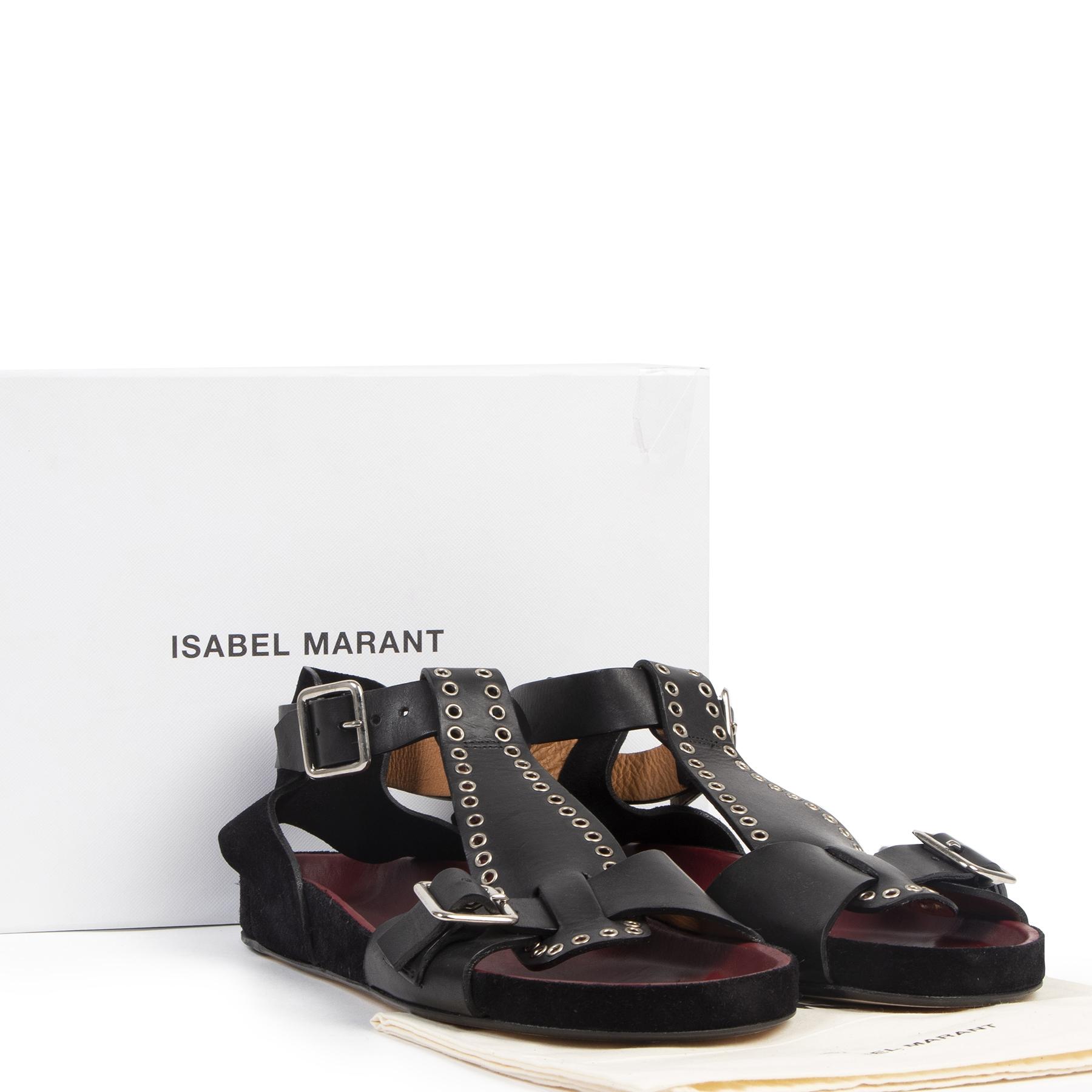 Isabel Marant Eyelet Sandals - size 40