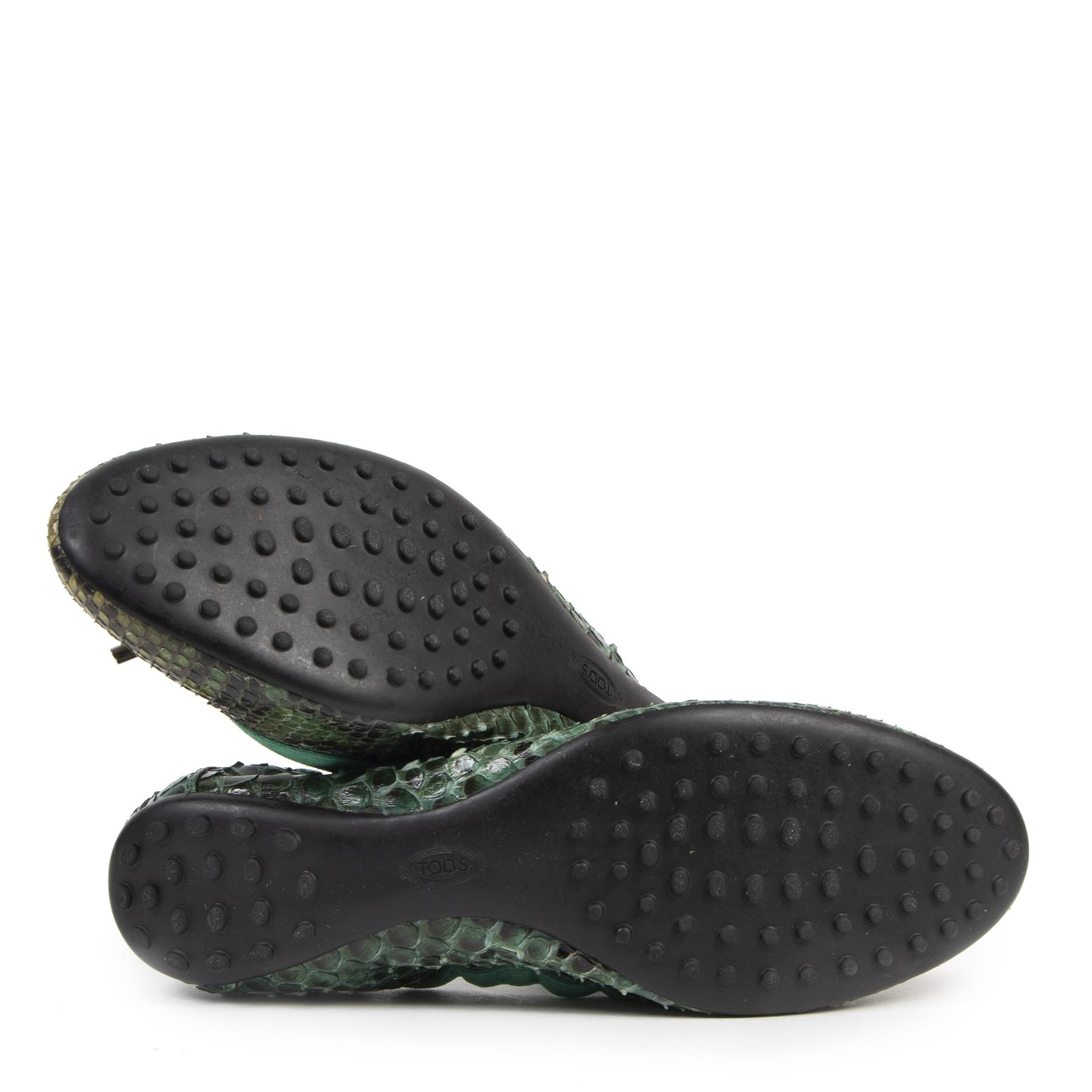 acheter en ligne seconde main Tod's Python Ballet Flats - sze 41