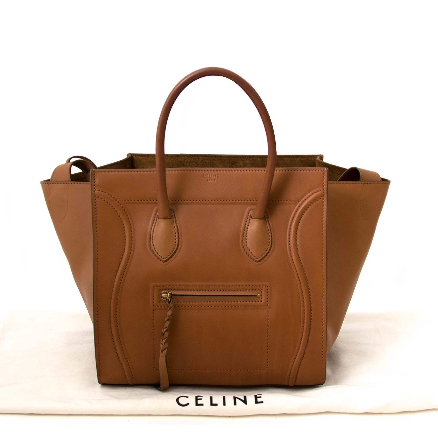 6b67865841a3 ... acheter en ligen seconde main Celine Medium Mat Calfskin Cognac Phantom  Bag