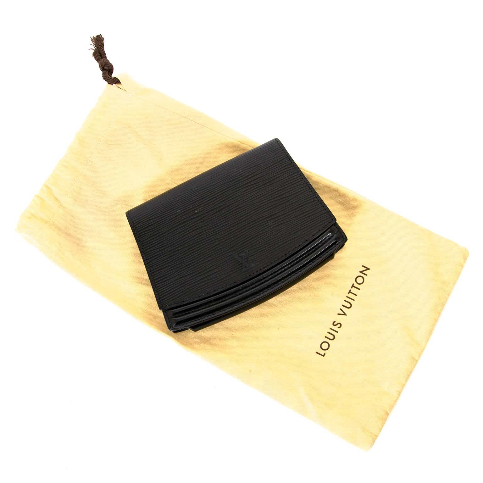 louis vuitton black epi leather belt bag now for sale at labellov vintage fashion webshop belgium