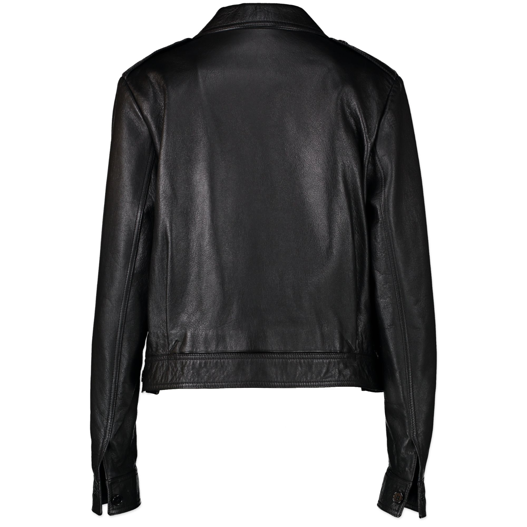 Saint Laurent Black Lamb Leather Jacket available online at Labellov secondhand luxury