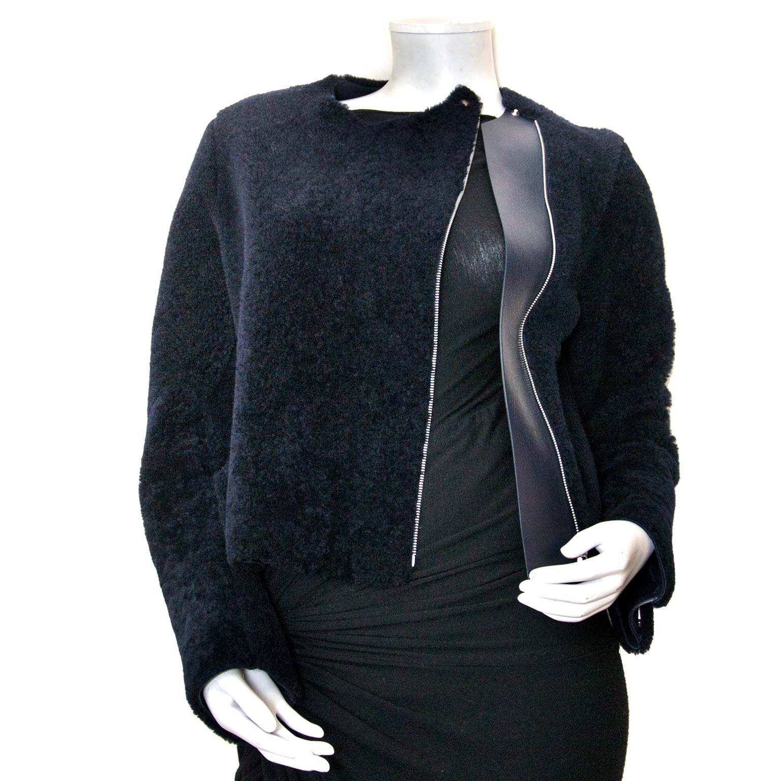 céline blue teddy jacket now for sale at labellov vintage fashion webshop belgium