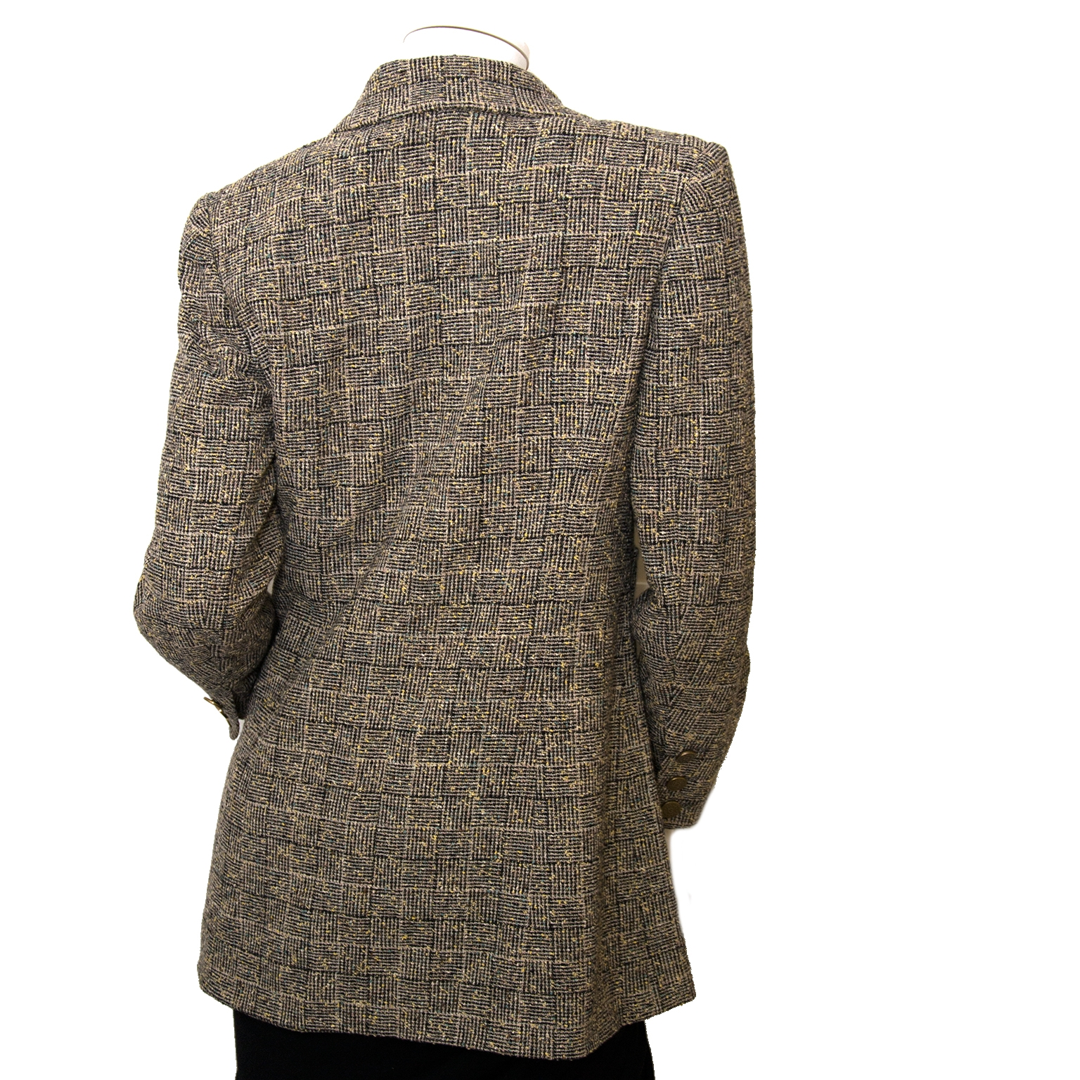 chanel tweed blazer now for sale at labellov vintage fashion webshop belgium