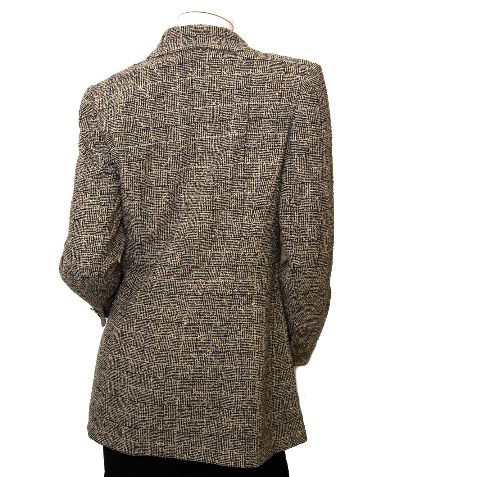 chanel tweed blazer now for sale at labellov vintage fashion webshop belgium
