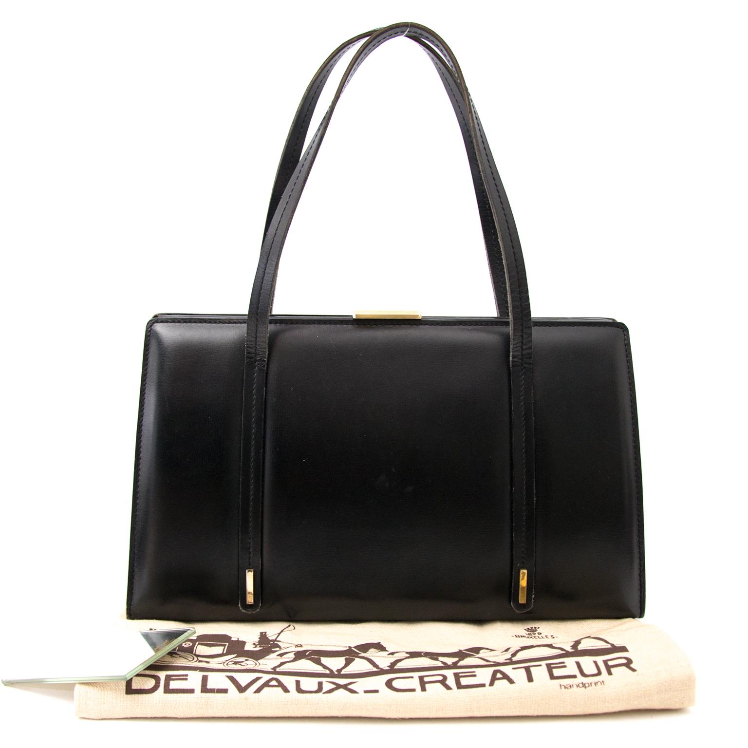 Shop safe online aan de beste prijs Delvaux Black Leather Handbag bij Labellov.com