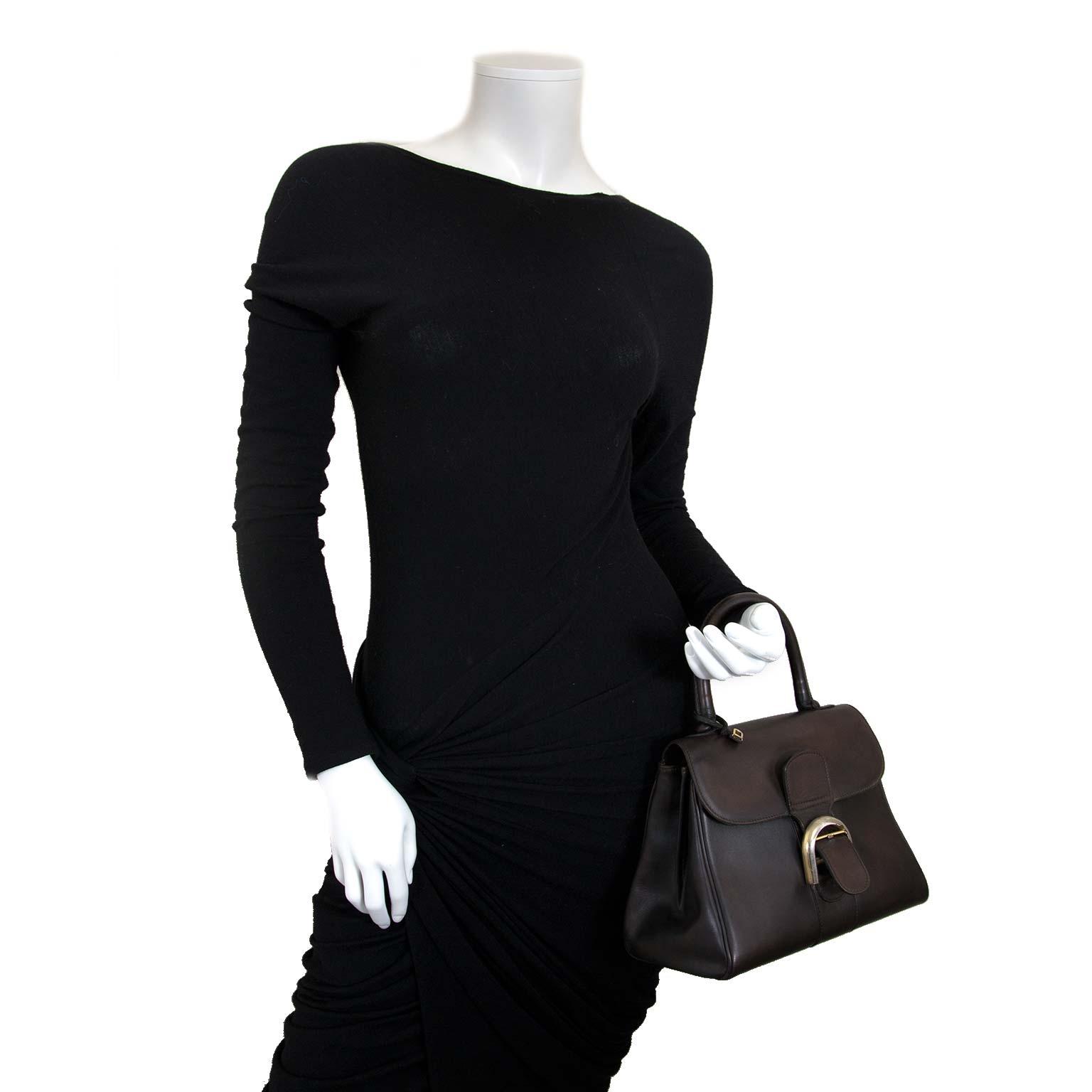 delvaux brillant vintage bruine pm tas nu te koop bij labellov vintage mode webshop belgië