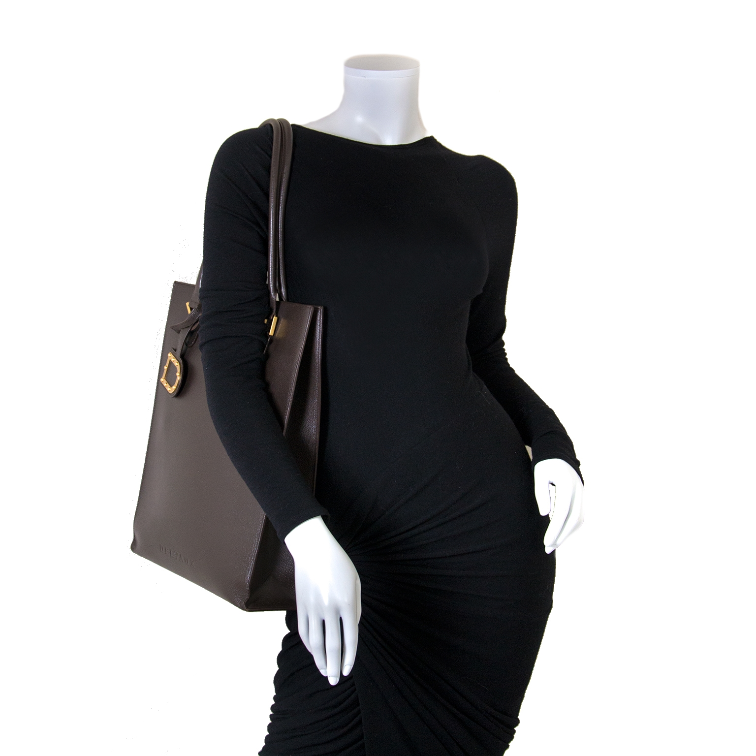 Delvaux Le Jeff Brown Tote now for sale at labellov vintage fashion webshop belgium