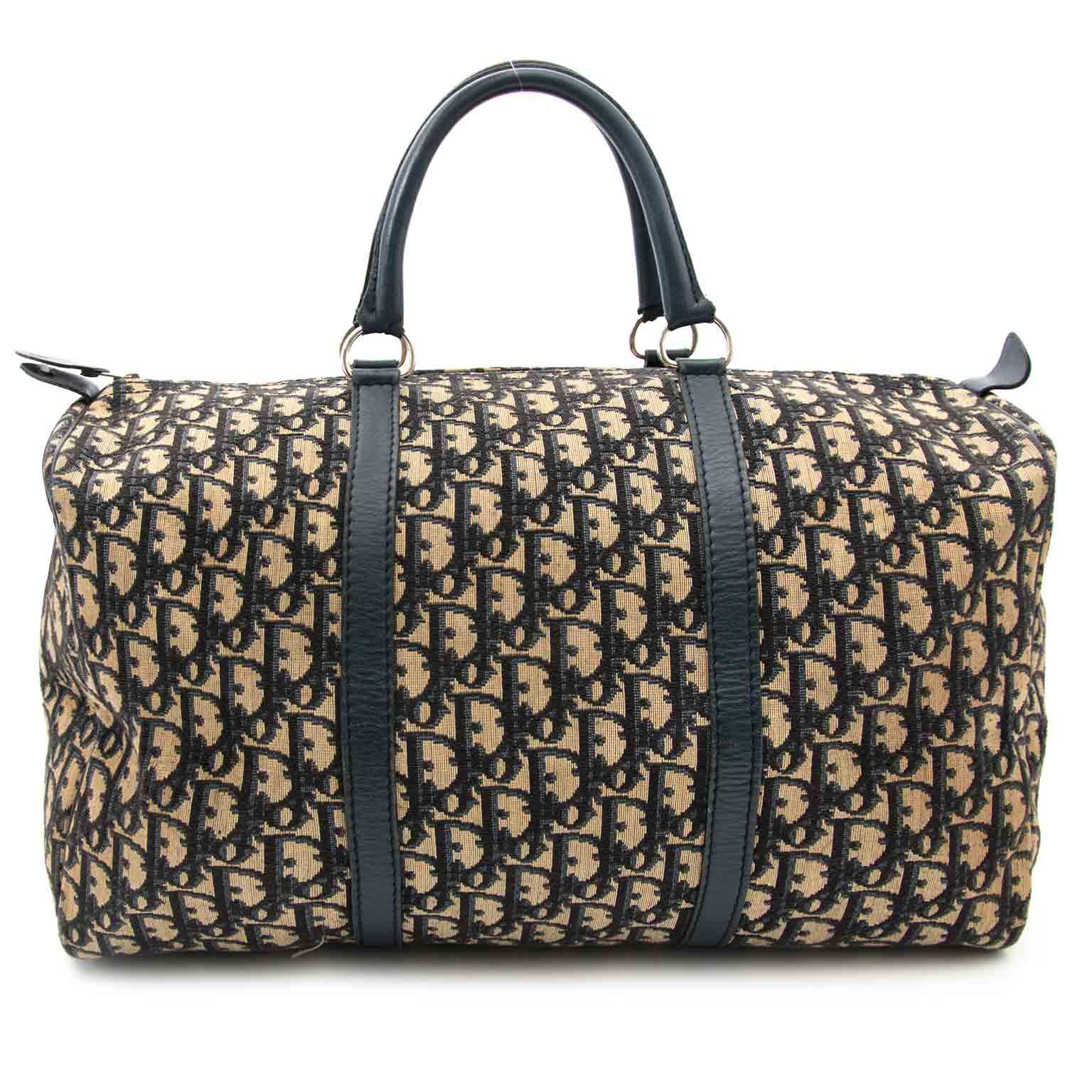 Dior Blue Monogram Boston Bag aan de beste prijs bij Labellov